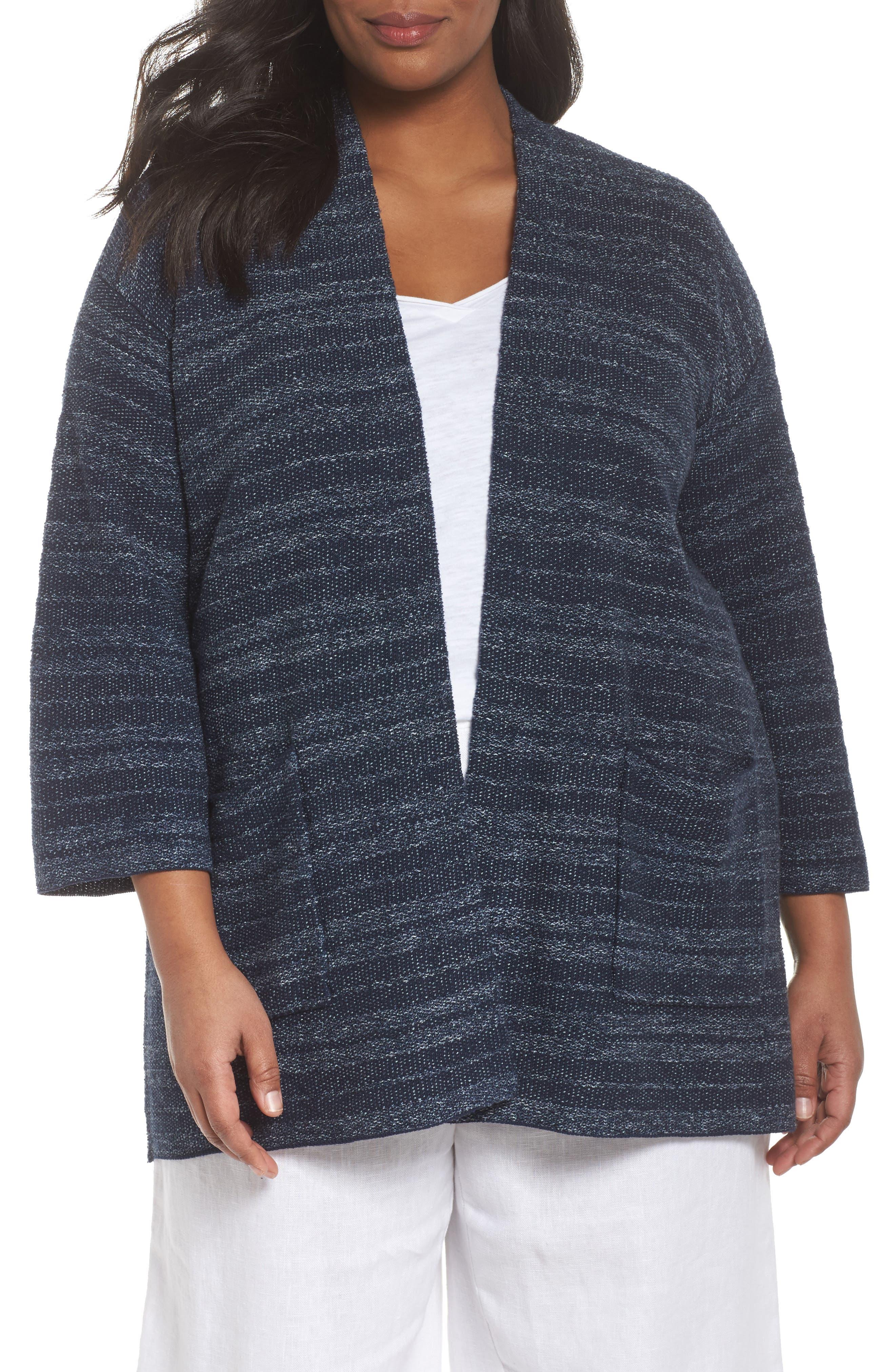 Eileen Fisher Kimono Cardigan (Plus Size)