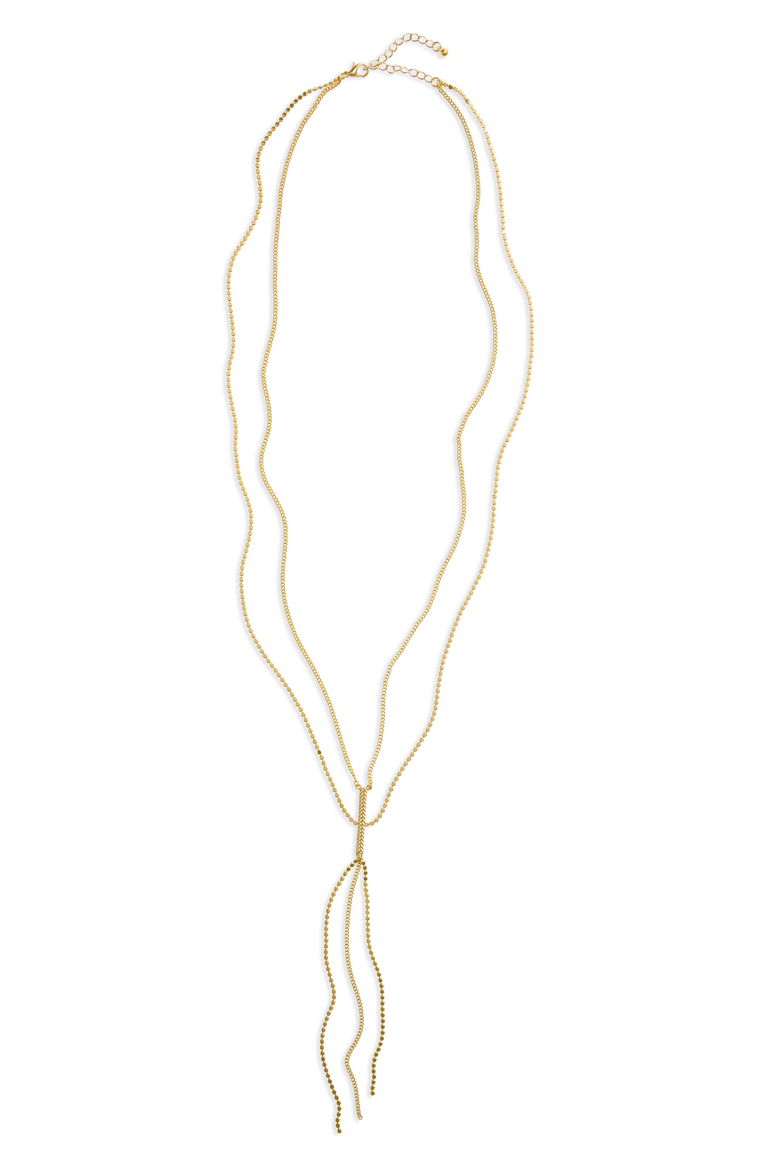 Main Image - Panacea Layered Y-Necklace