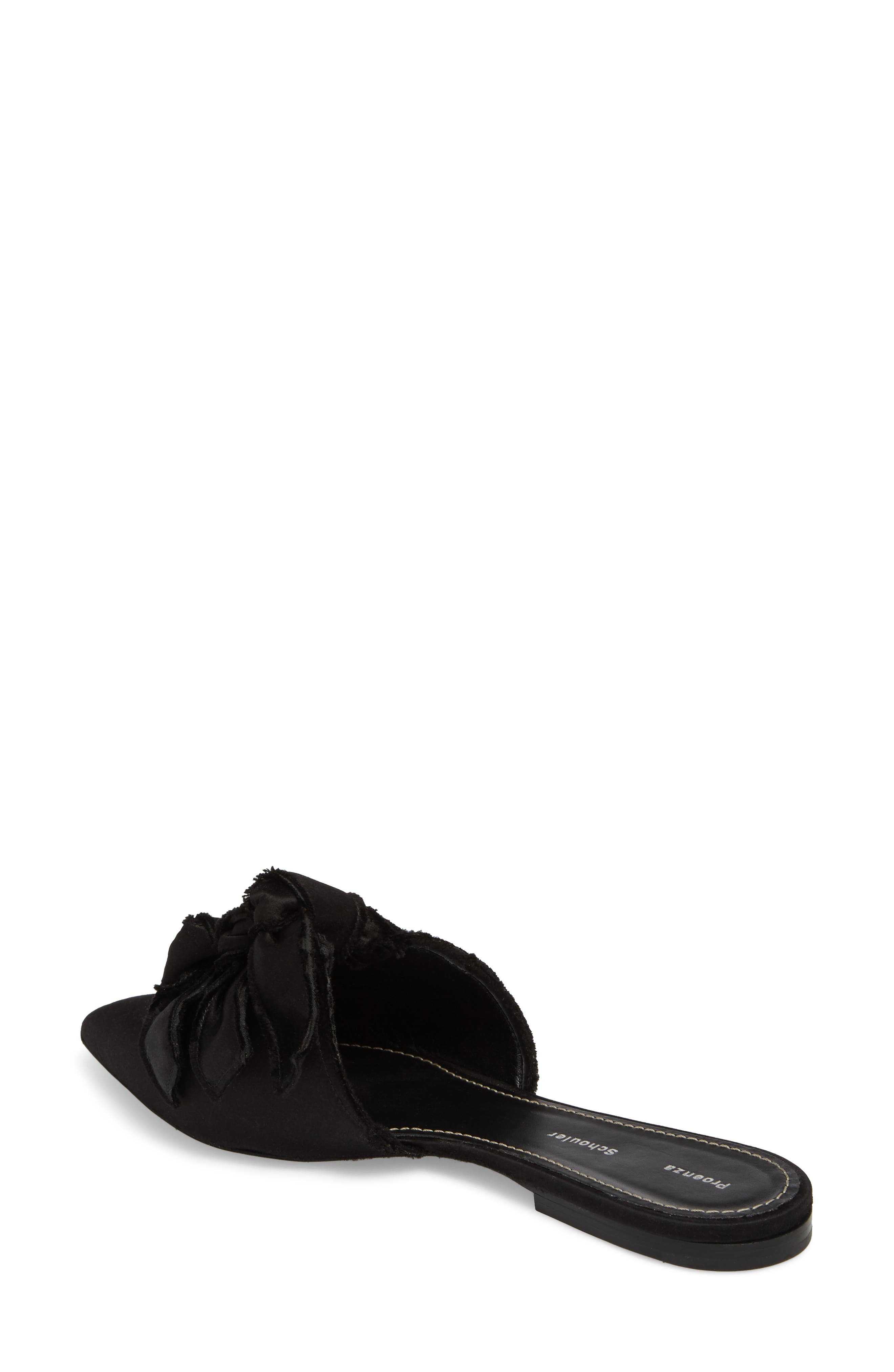 Knot Pointy Toe Mule,                             Alternate thumbnail 2, color,                             Black