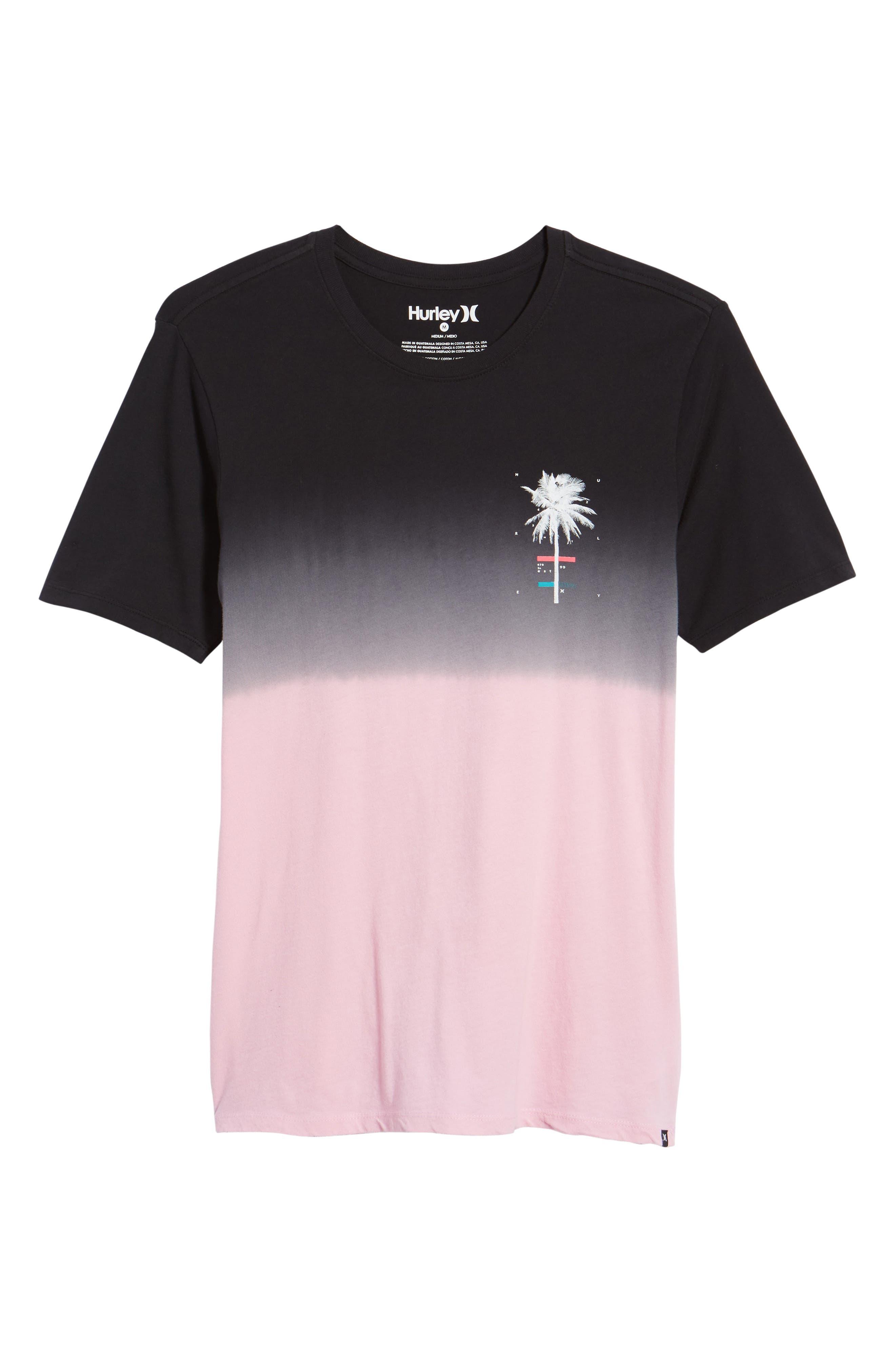 Trajectory Dip Dye T-Shirt,                             Alternate thumbnail 6, color,                             Hyper Pink/Black