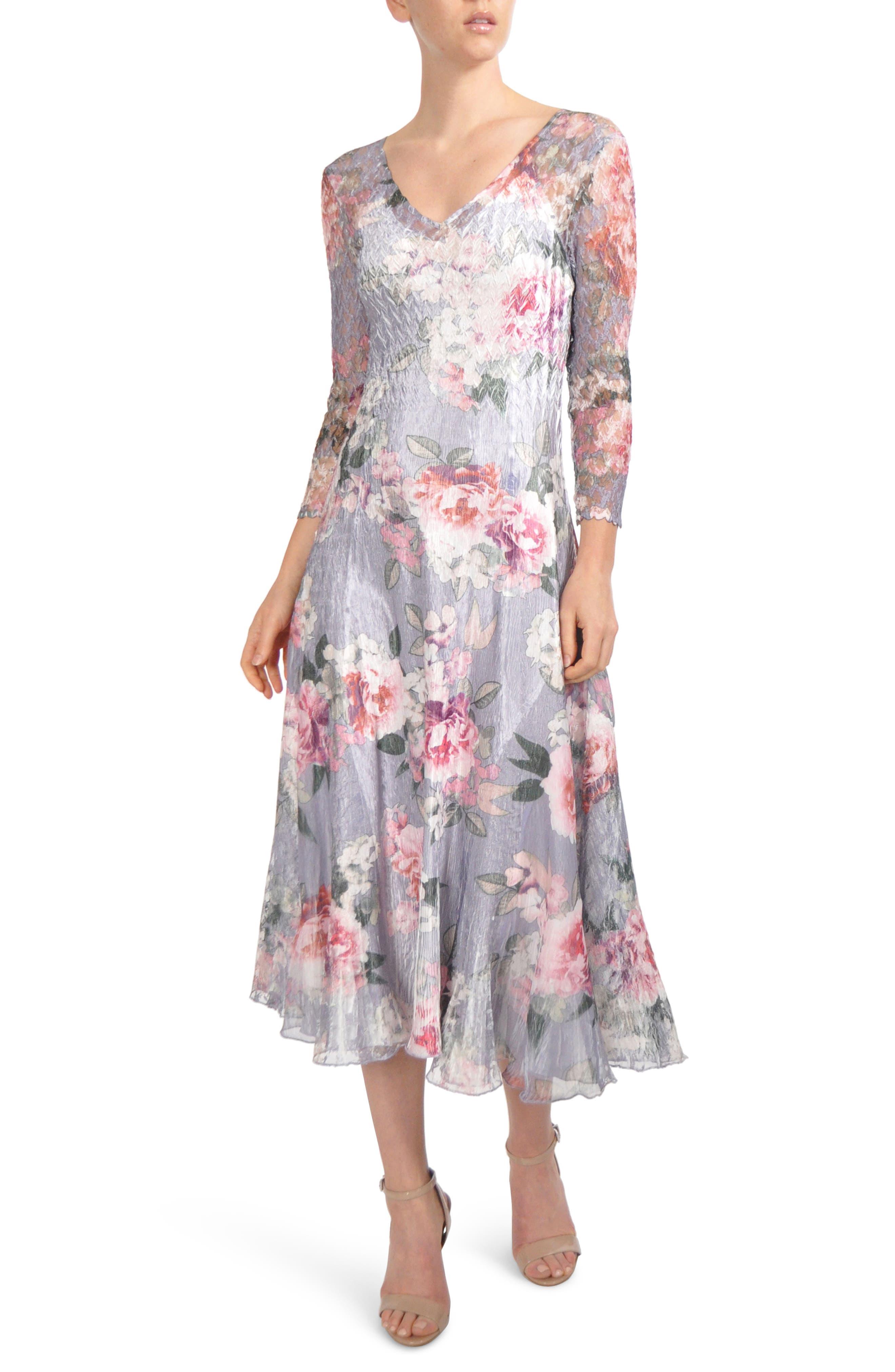 Main Image - Komarov Charmeuse Midi Dress (Regular & Petite)