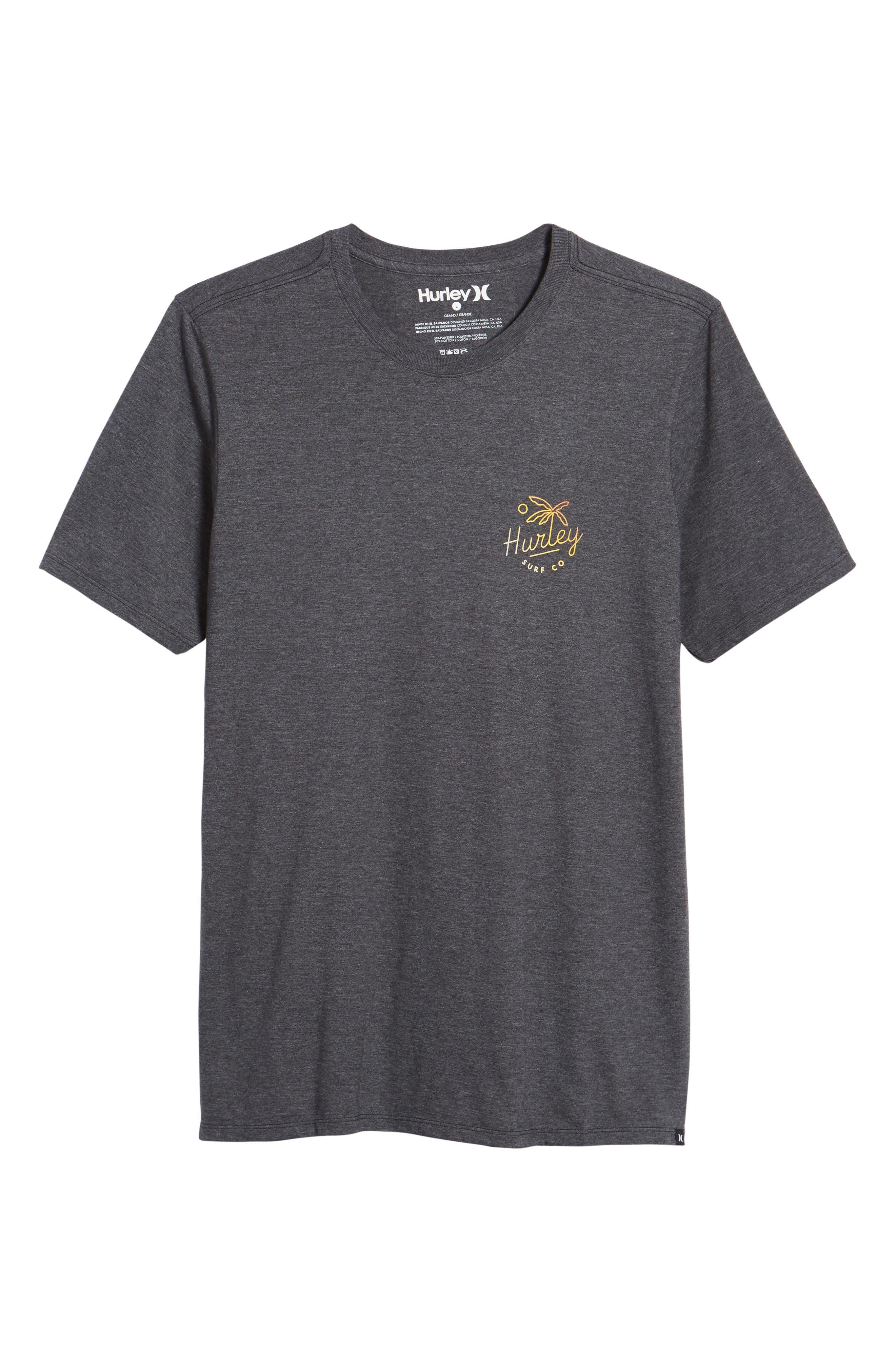 Paradise Script T-Shirt,                             Alternate thumbnail 6, color,                             Black Heather