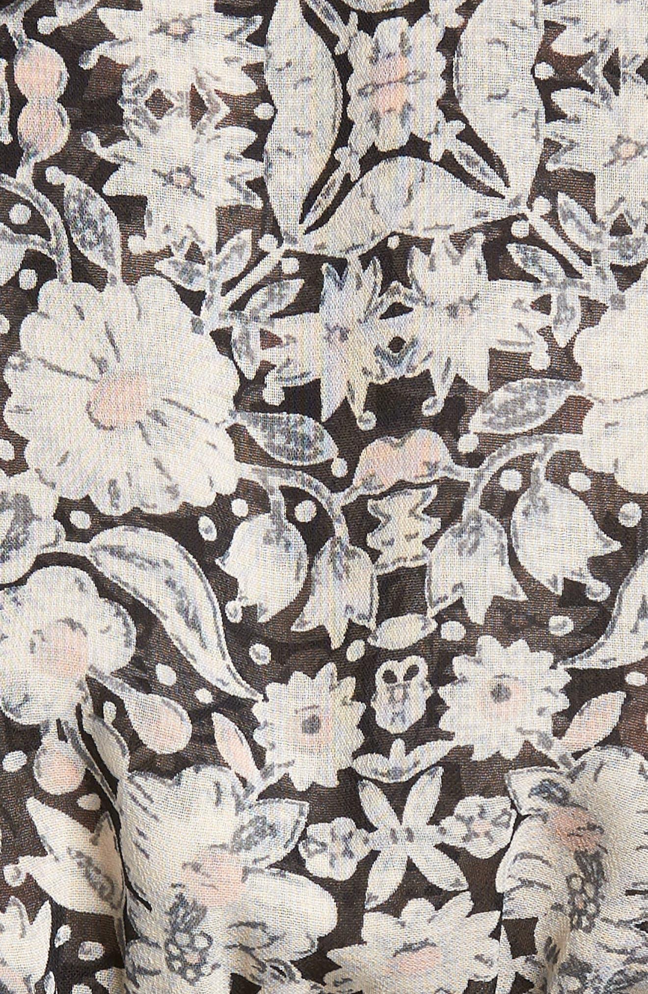 Josefine Ruffle One-Shoulder Dress,                             Alternate thumbnail 5, color,                             Multi Fe8