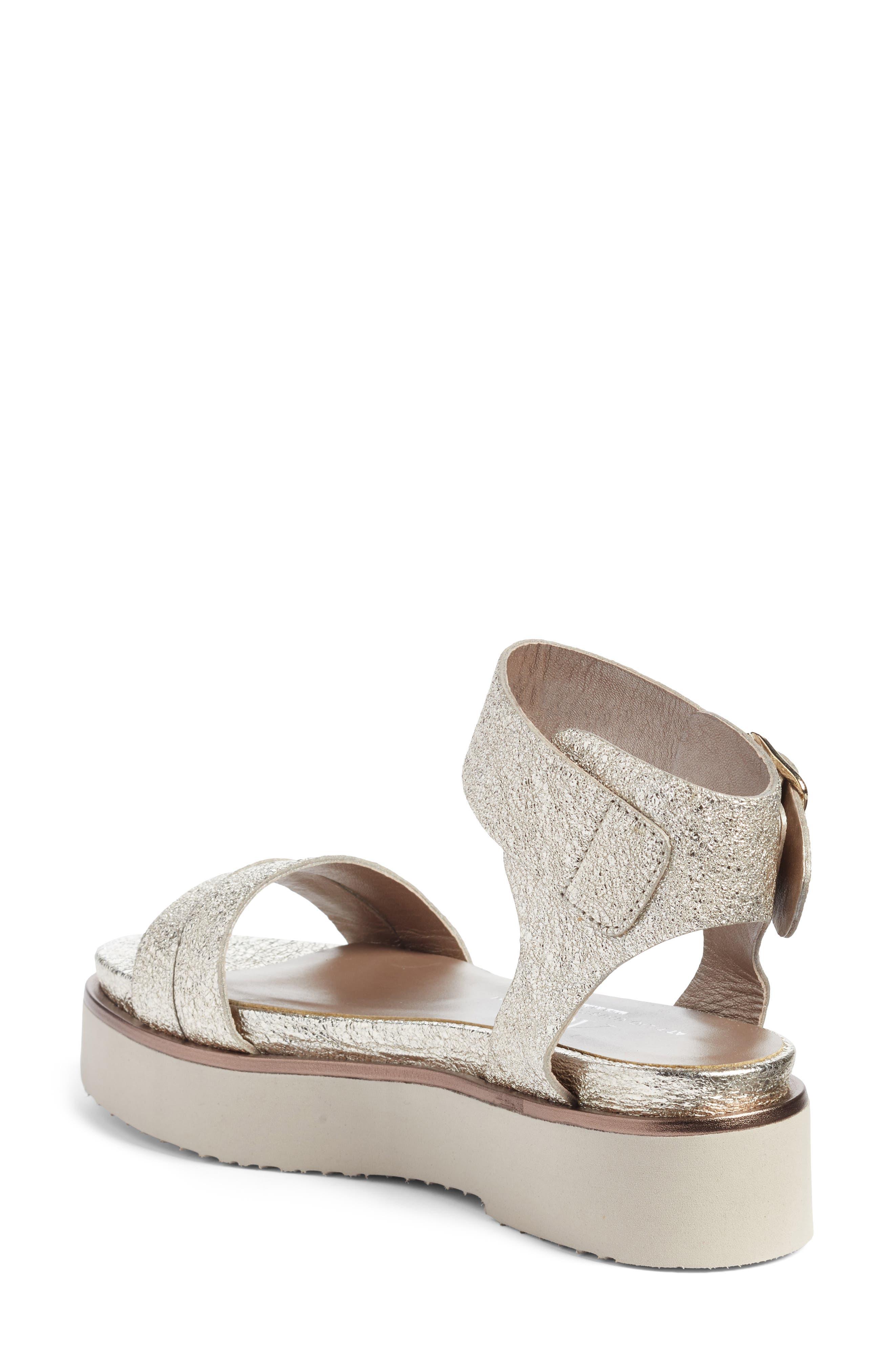 Ankle Strap Sandal,                             Alternate thumbnail 2, color,                             Golden Leather