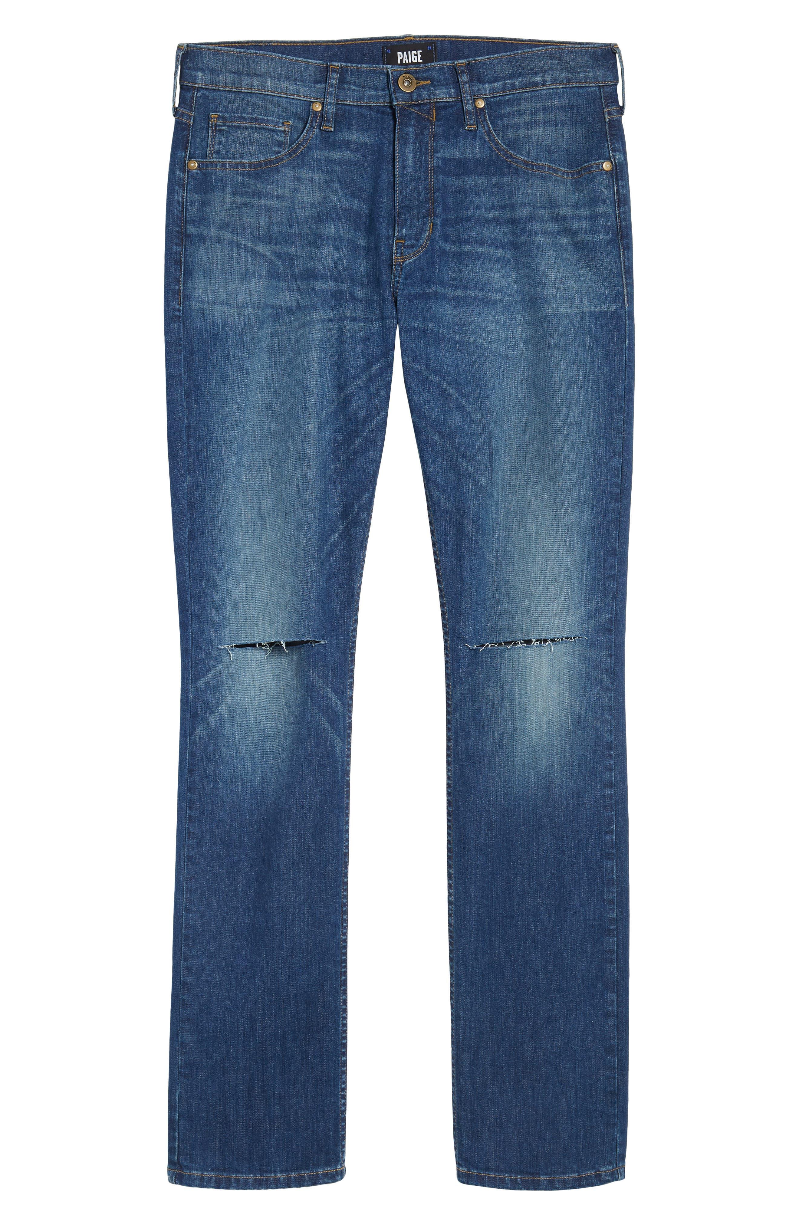 Lennox Slim Fit Jeans,                             Alternate thumbnail 6, color,                             Harlan Destructed