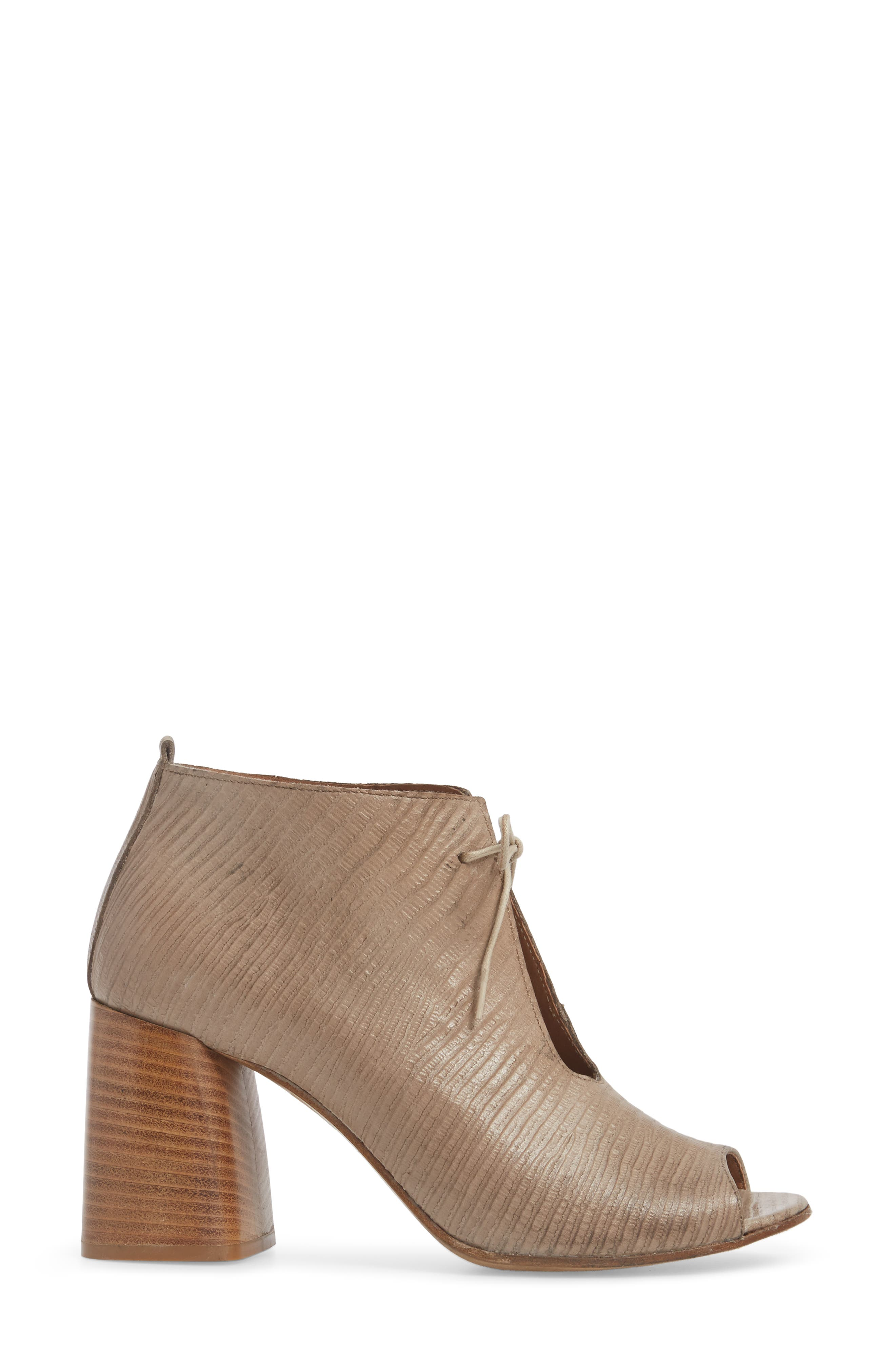 Lacey1 Bootie,                             Alternate thumbnail 3, color,                             Taupe Leather