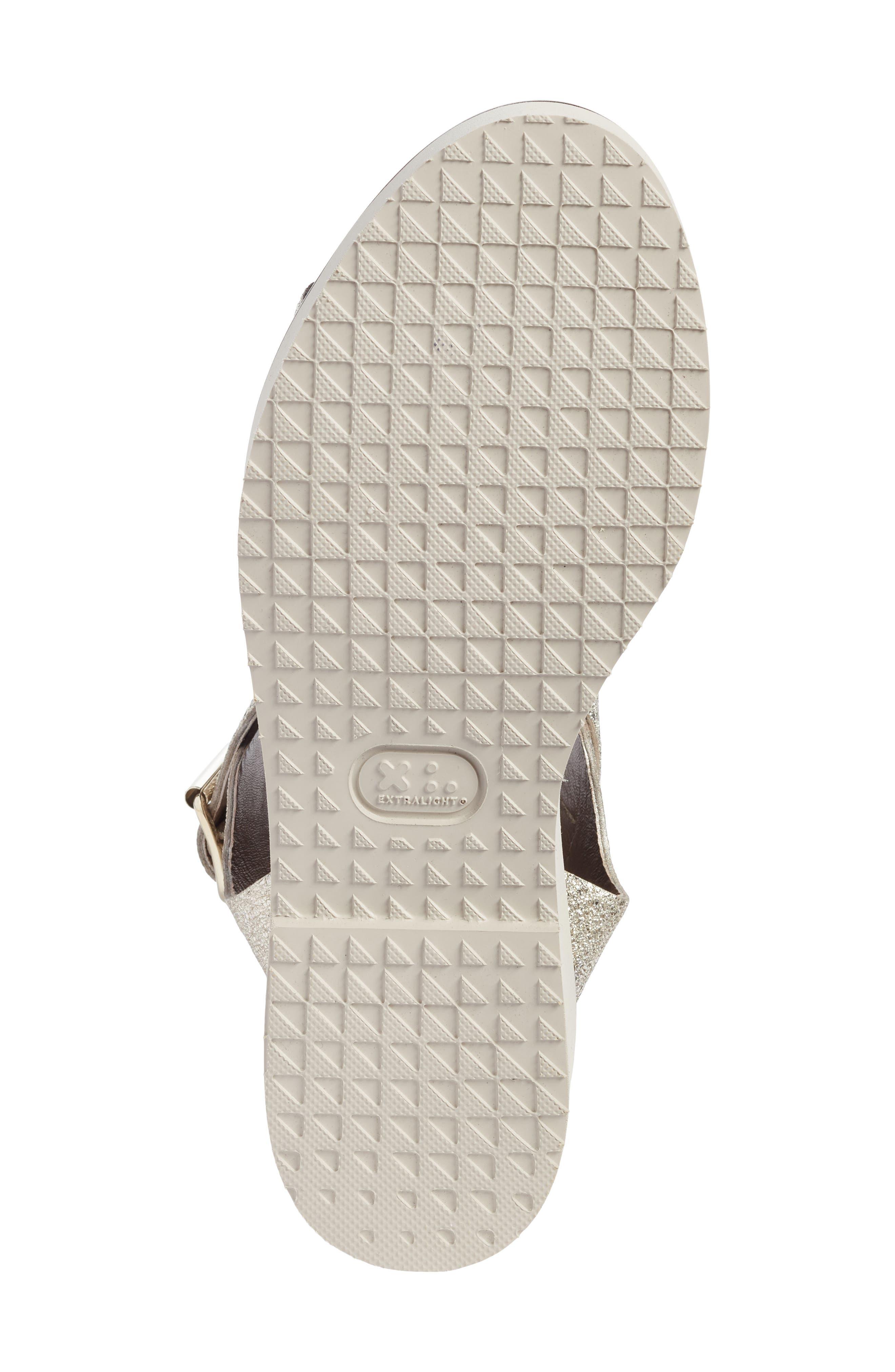 Ankle Strap Sandal,                             Alternate thumbnail 6, color,                             Golden Leather