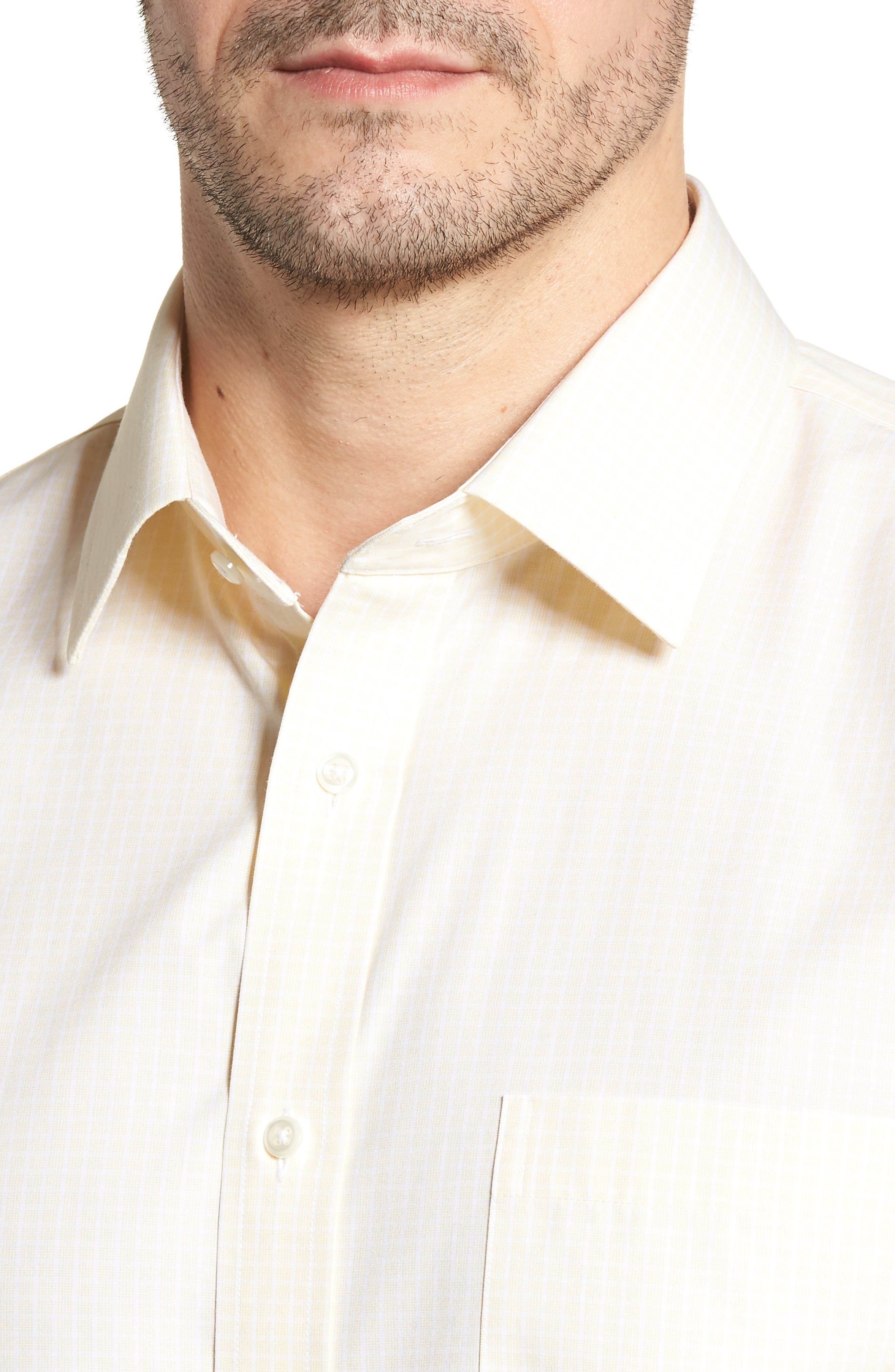 Smartcare Traditional Fit Dress Shirt,                             Alternate thumbnail 2, color,                             Yellow Clover