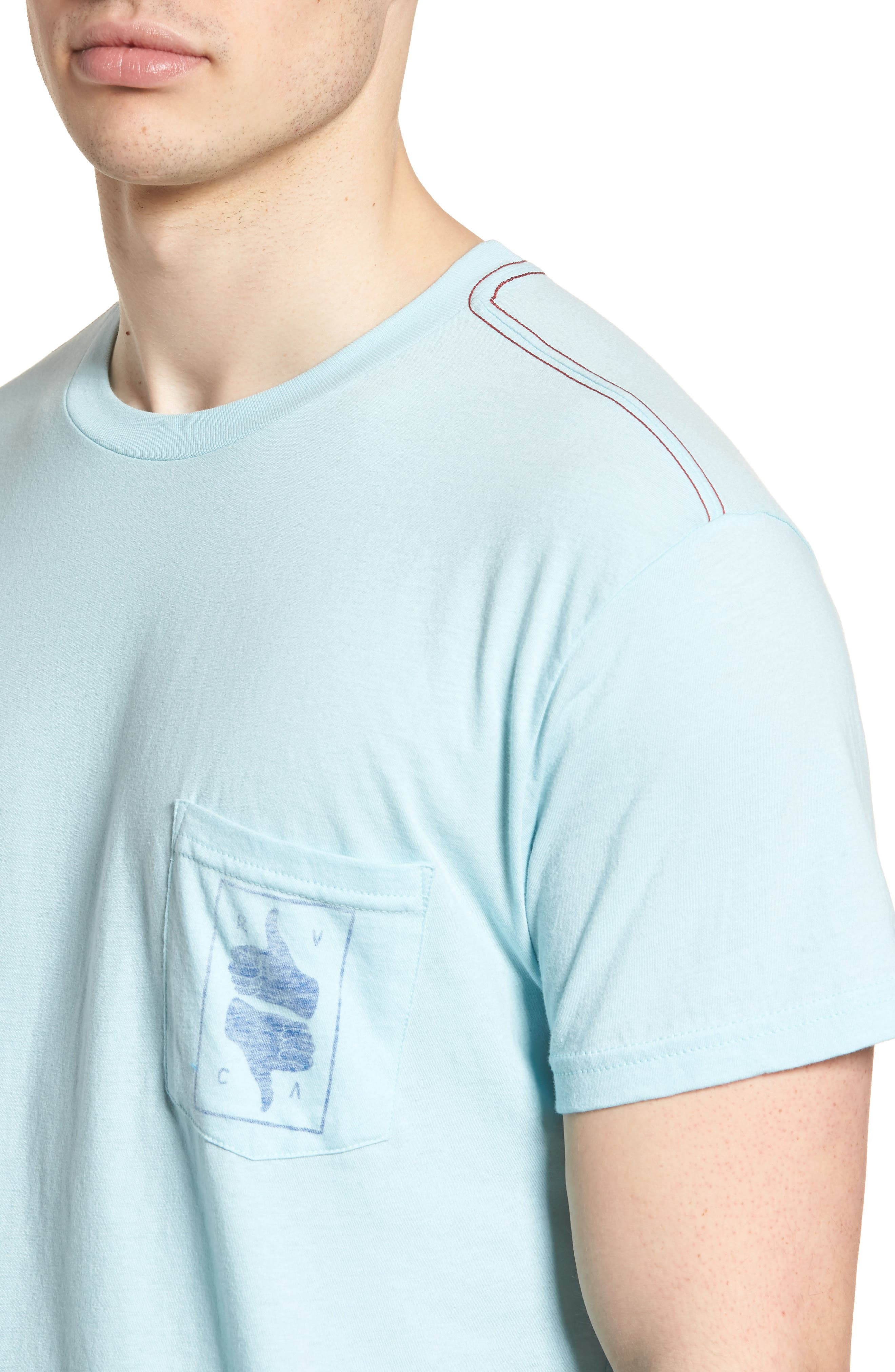 Thumbs Up T-Shirt,                             Alternate thumbnail 5, color,                             Blue