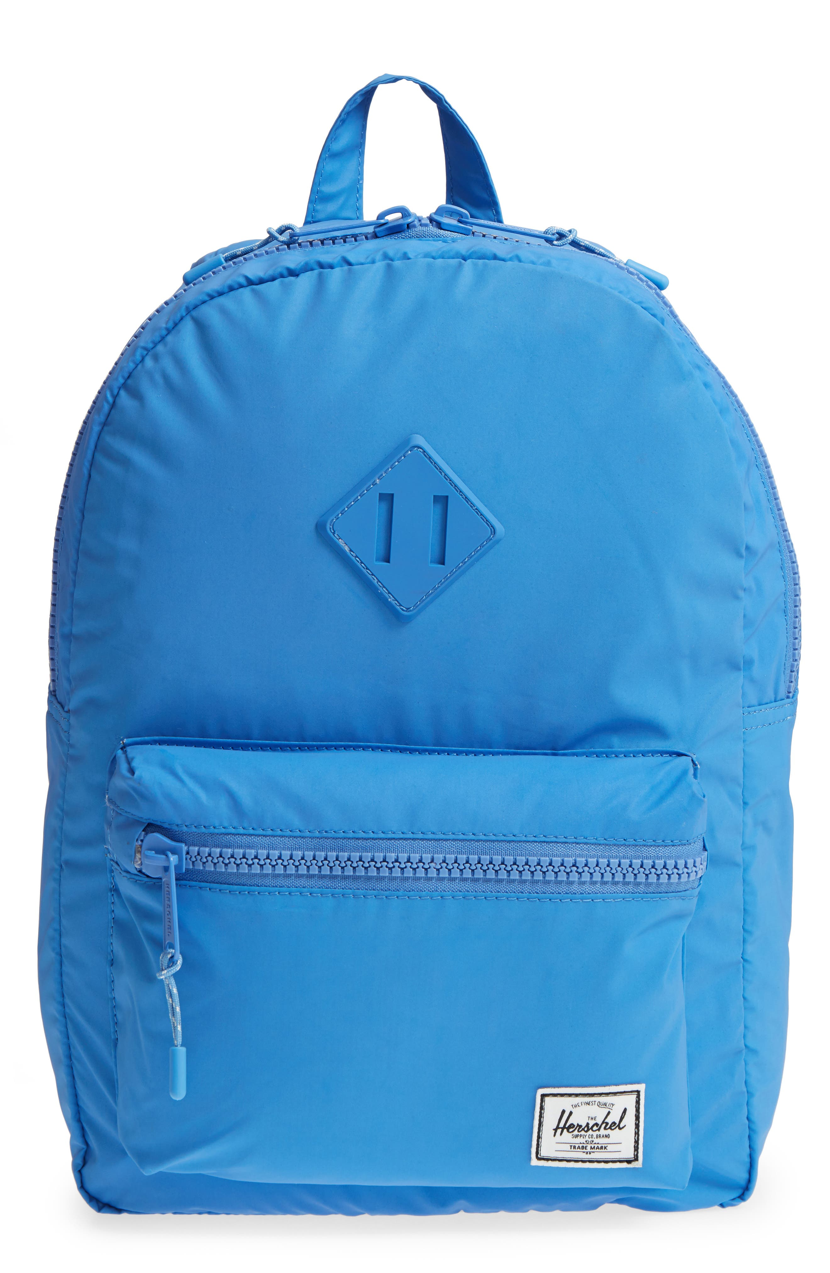 Heritage Backpack,                         Main,                         color, Blue Reflective Rubber