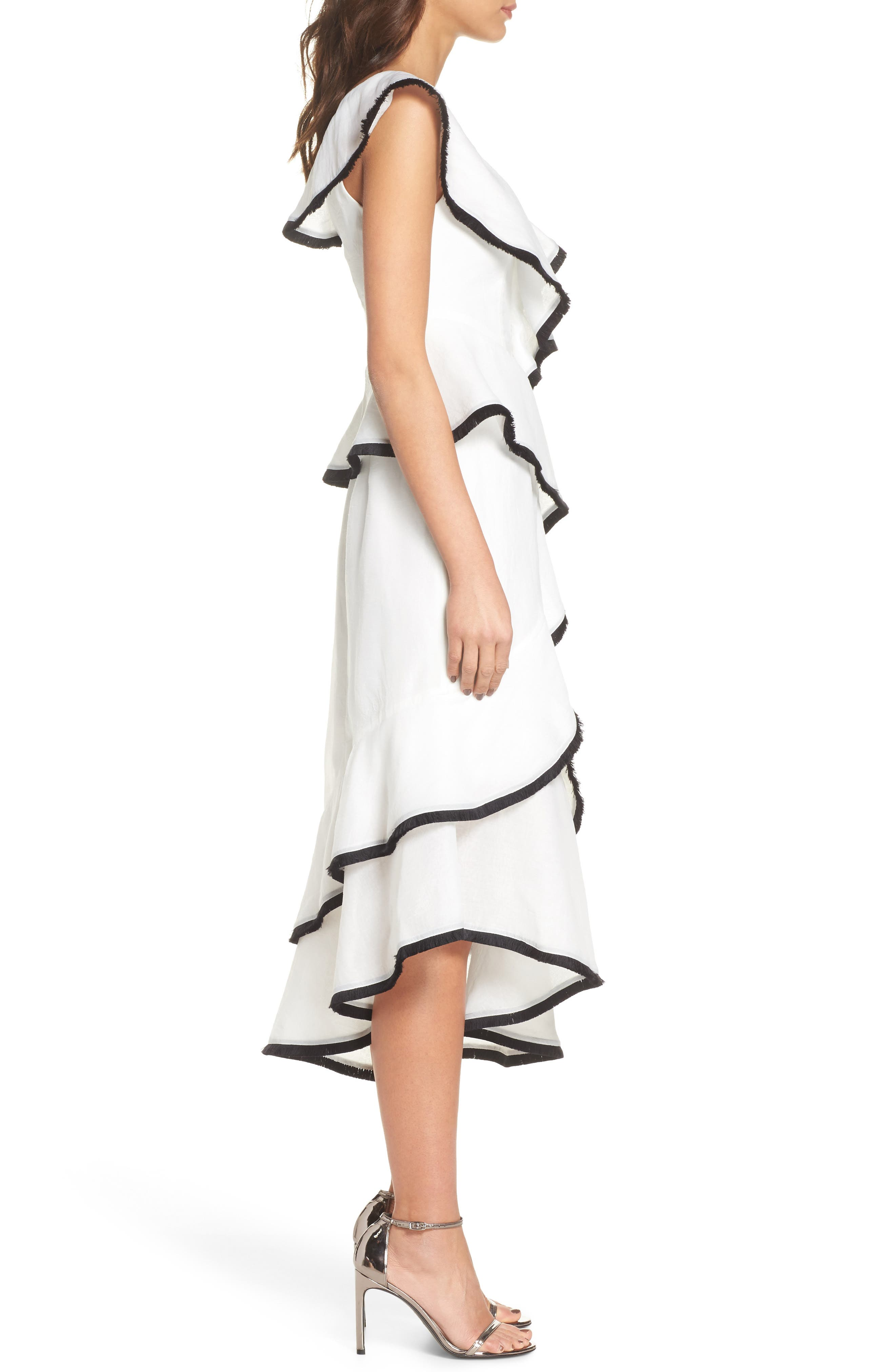 My Everything One-Shoulder Asymmetric Dress,                             Alternate thumbnail 3, color,                             Ivory