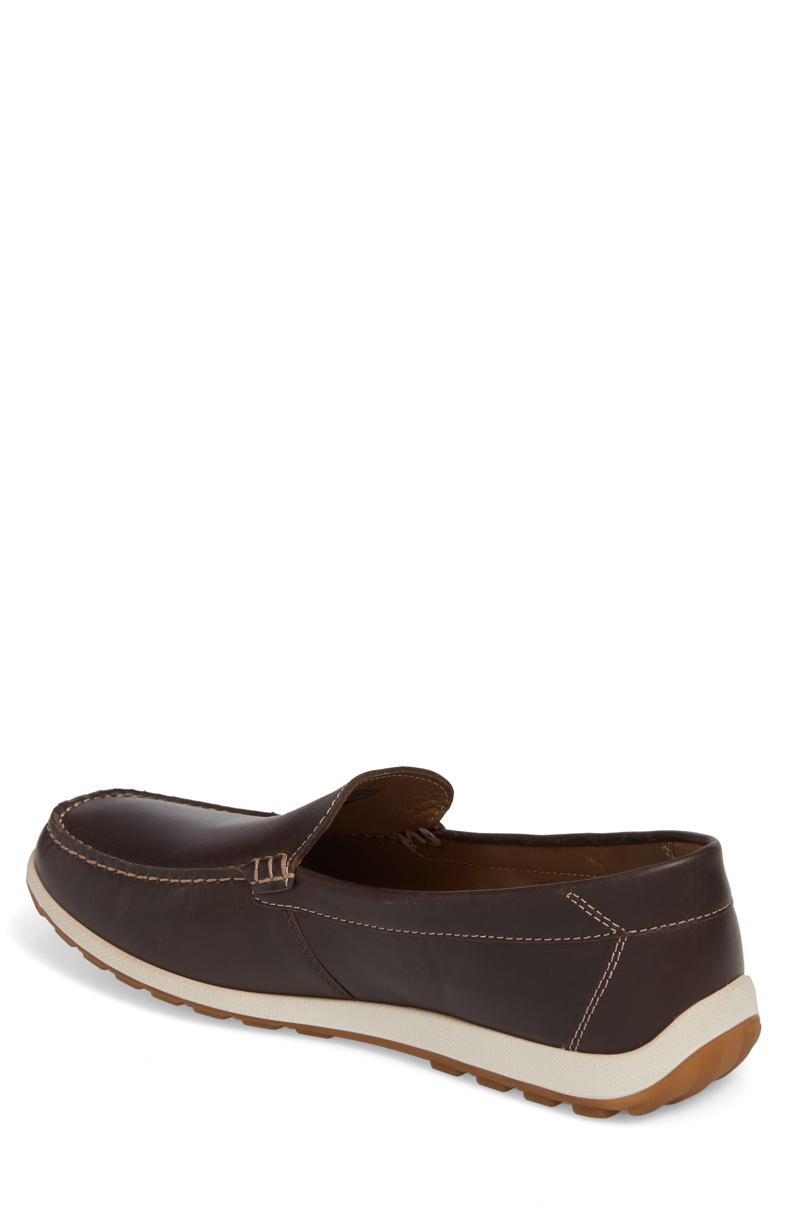 Dip Moc Toe Driving Loafer,                             Alternate thumbnail 2, color,                             Mocha Leather