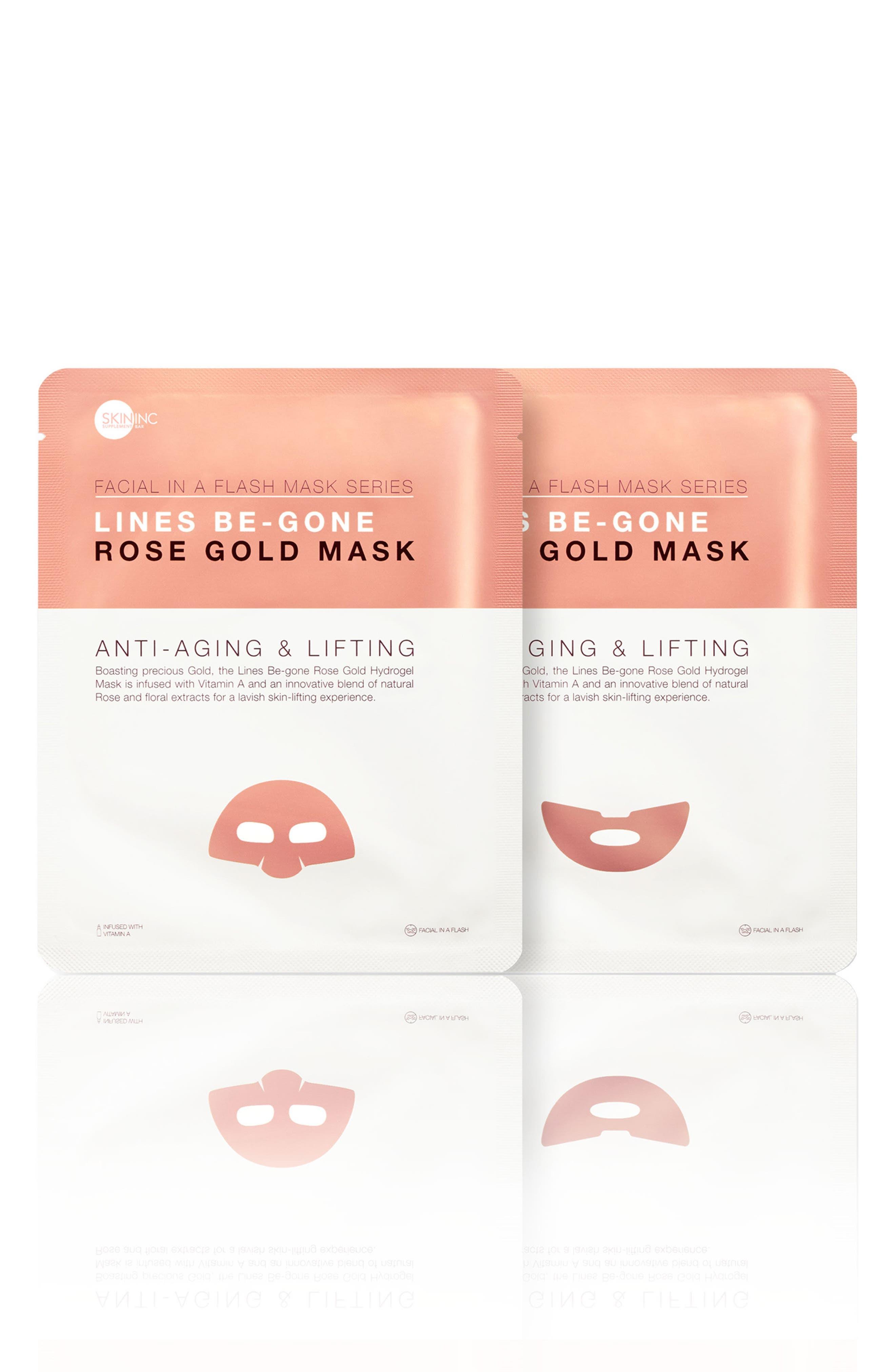 Lines Be-Gone Rose Gold Mask,                         Main,                         color, No Color