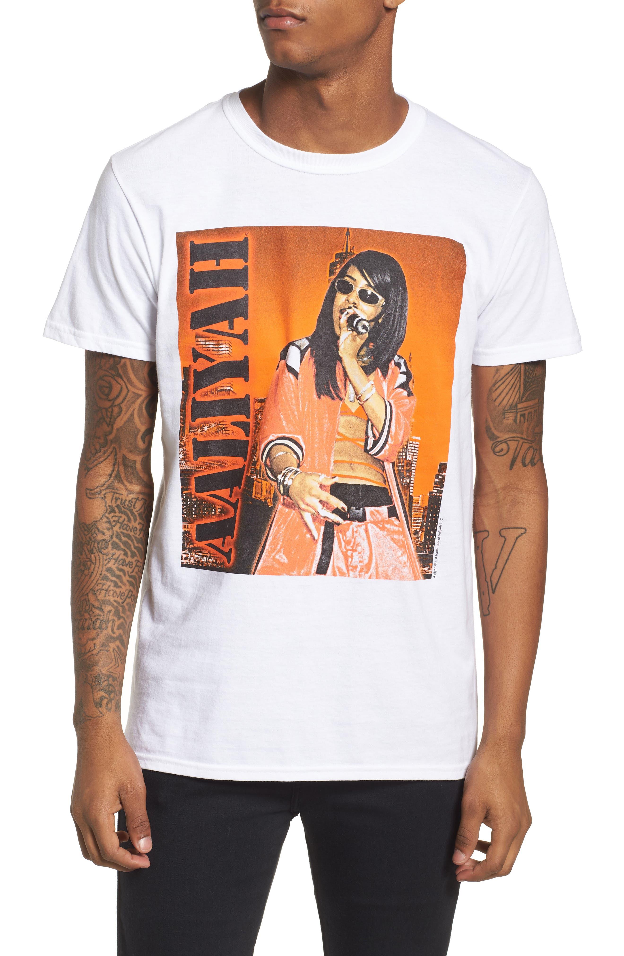 Aaliyah T-Shirt,                             Main thumbnail 1, color,                             White Tee Aaliyah