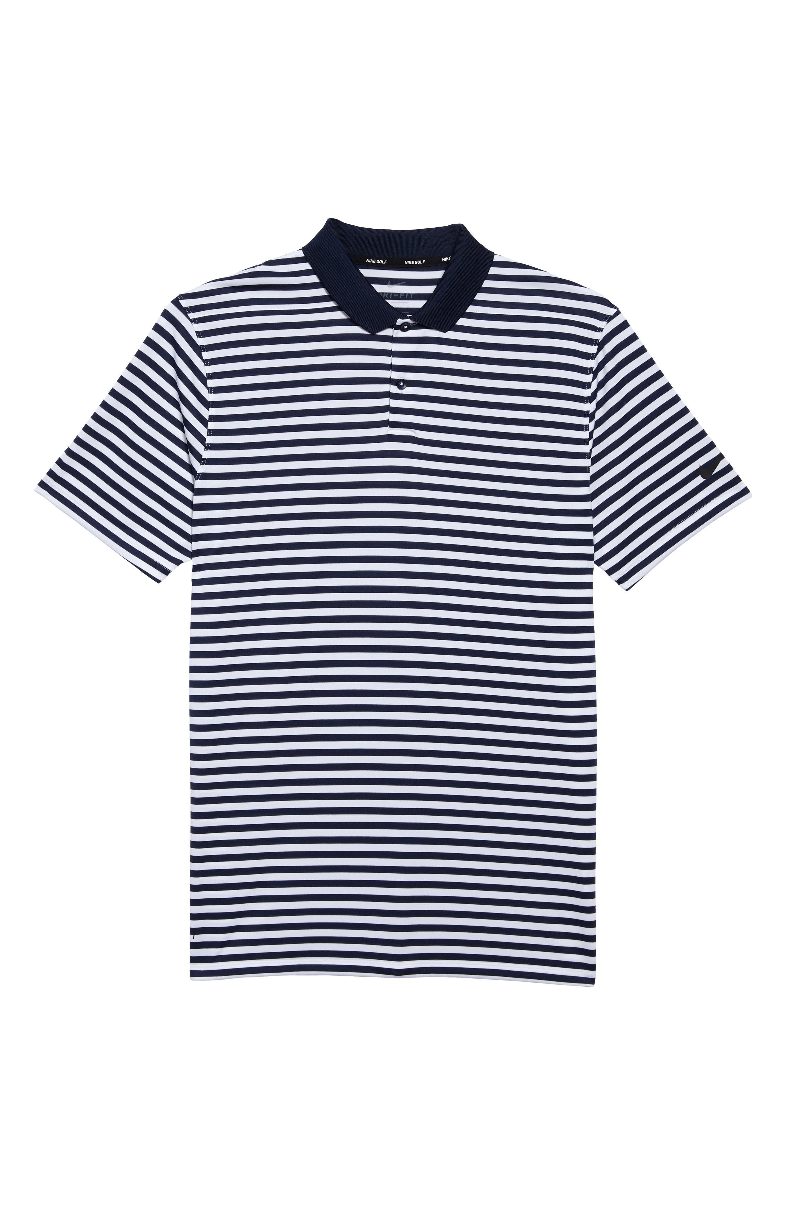 Dry Victory Stripe Golf Polo,                             Alternate thumbnail 6, color,                             College Navy/ White/ Black