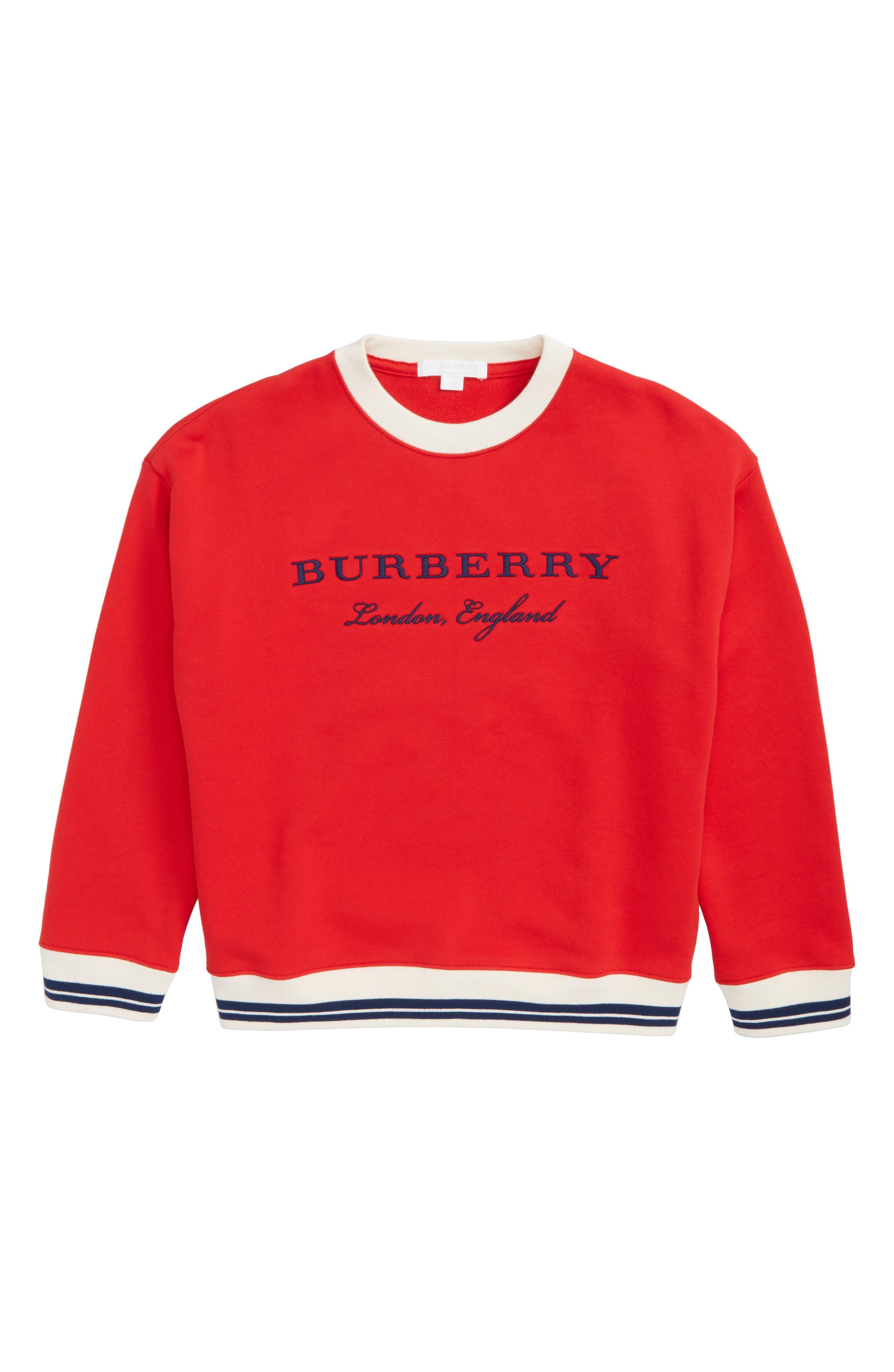 Burberry Eli Stripe Jersey Sweatshirt (Little Boys & Big Boys)