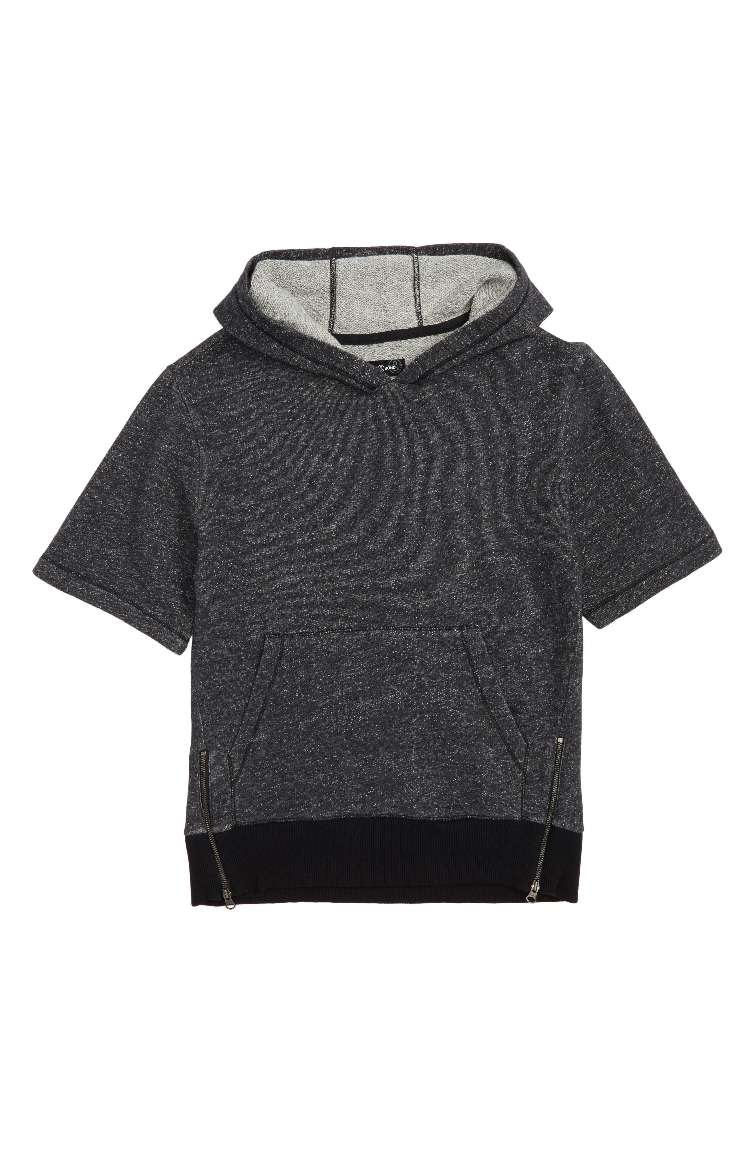 Side Zip Hoodie,                         Main,                         color, Black