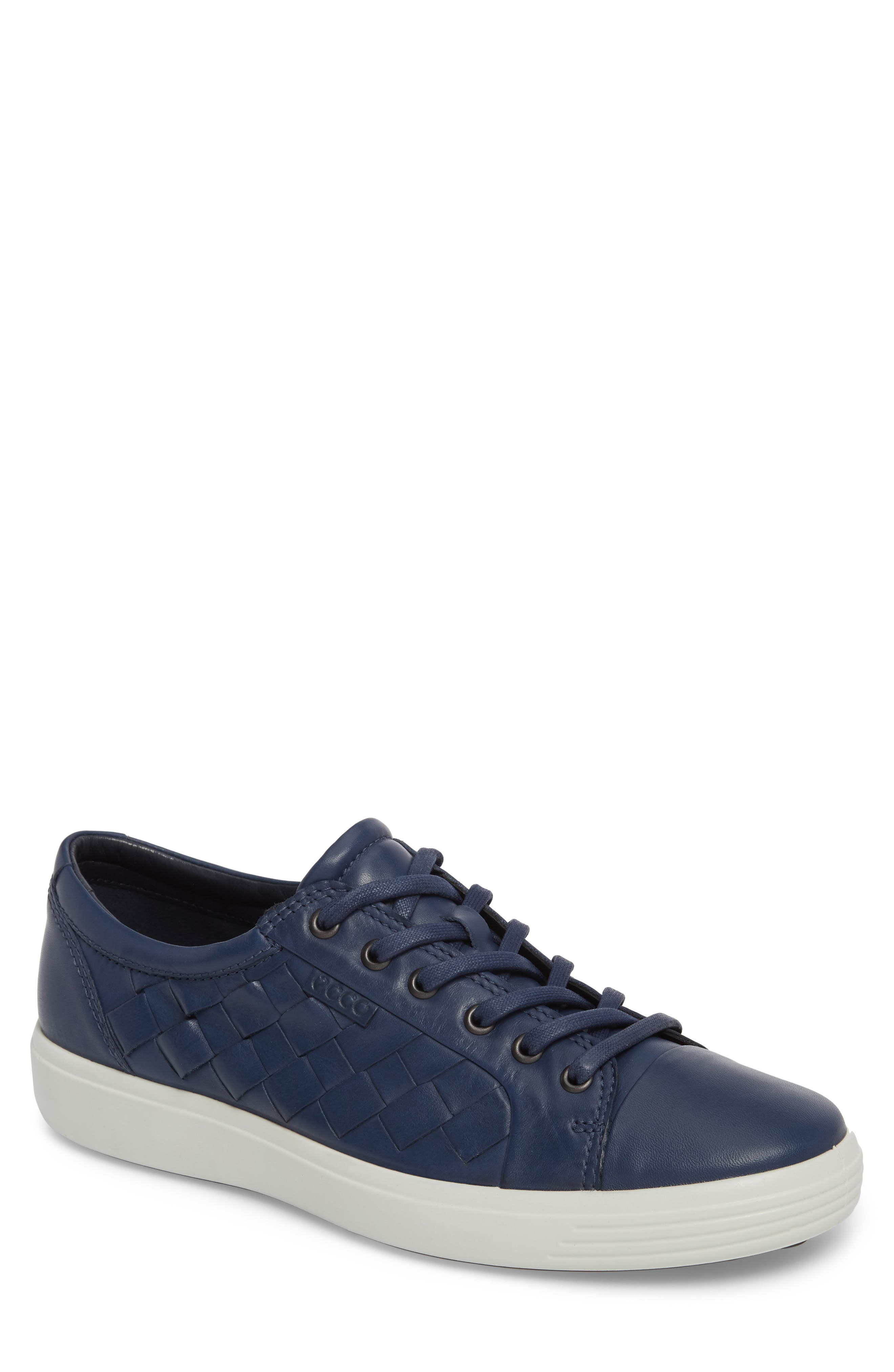 Soft 7 Woven Sneaker,                         Main,                         color, True Navy Leather