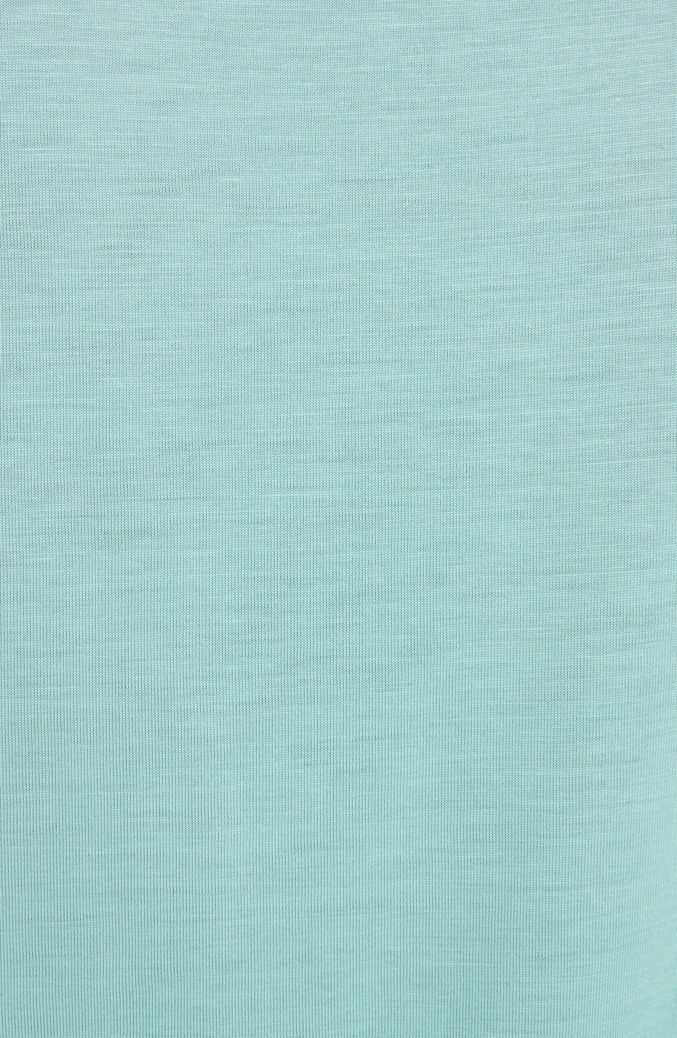 Versailles Woven Front Tee,                             Alternate thumbnail 5, color,                             Teal
