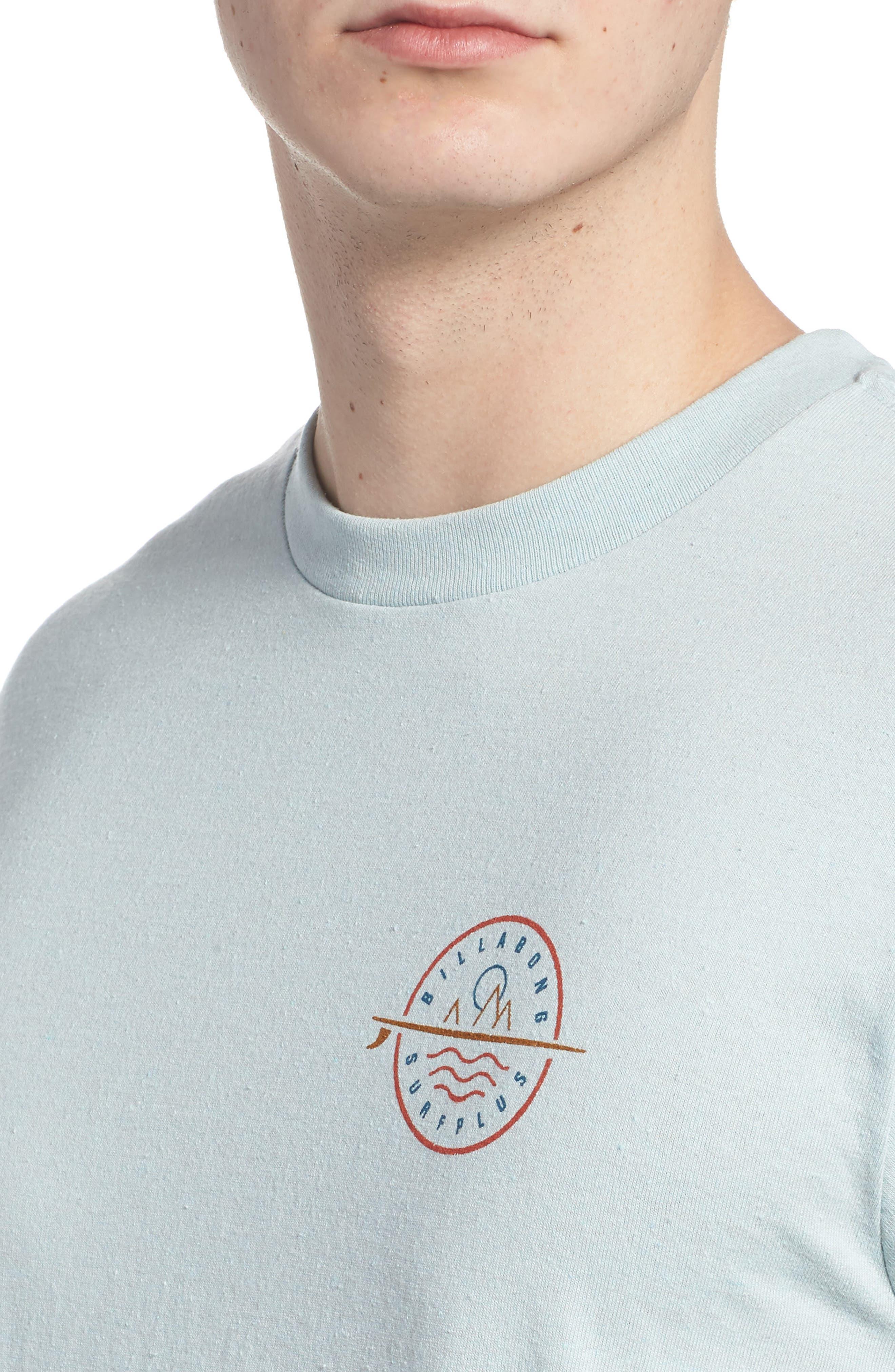 Crossboard Graphic T-Shirt,                             Alternate thumbnail 4, color,                             Light Aqua