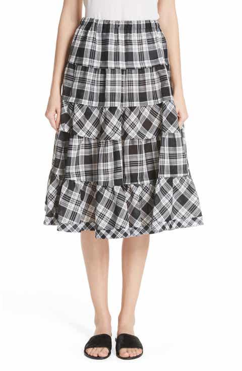 Tricot Comme des Garçons Tiered Plaid Skirt