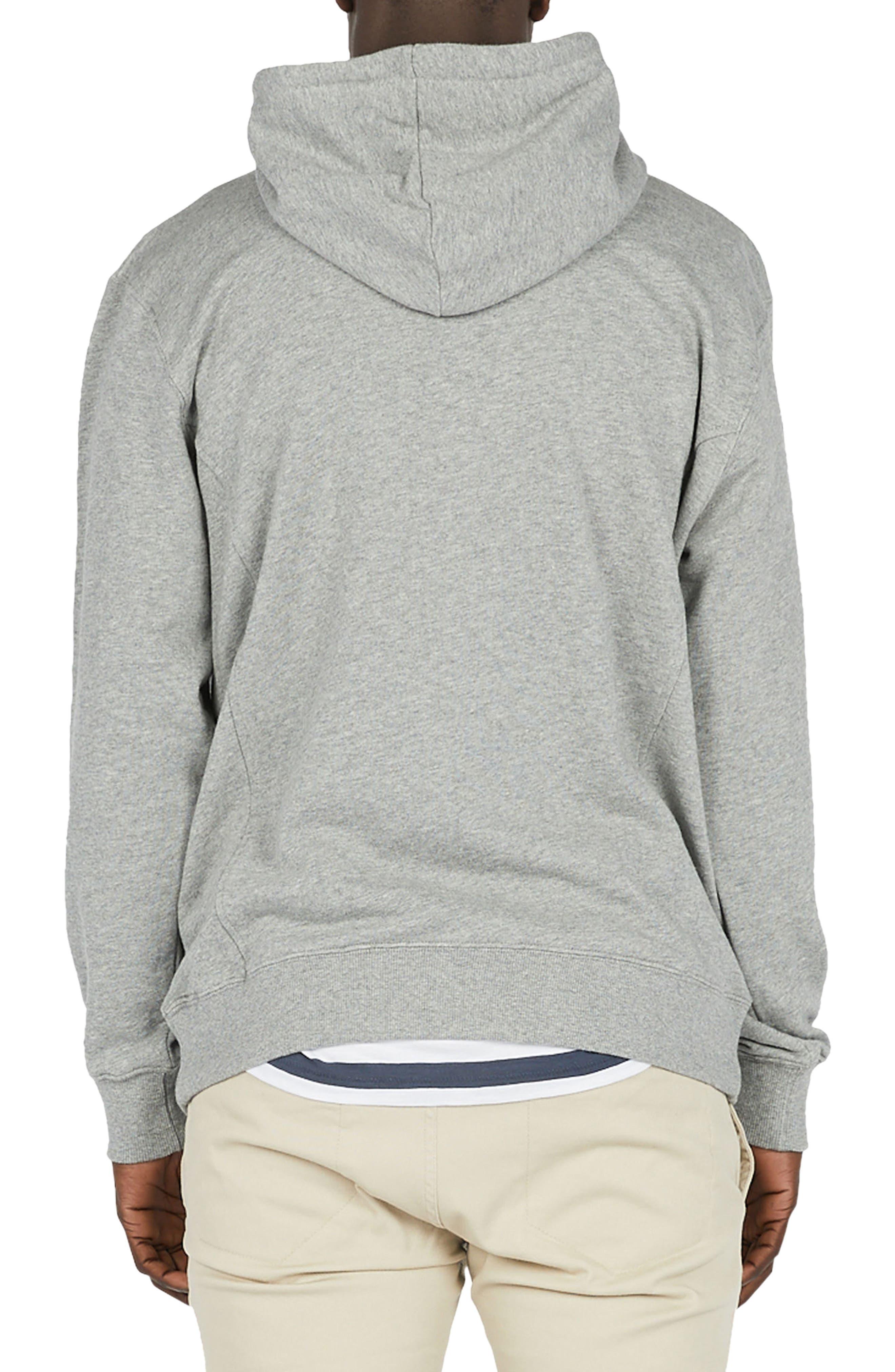 Logo Hoodie Sweatshirt,                             Alternate thumbnail 2, color,                             Grey Melange