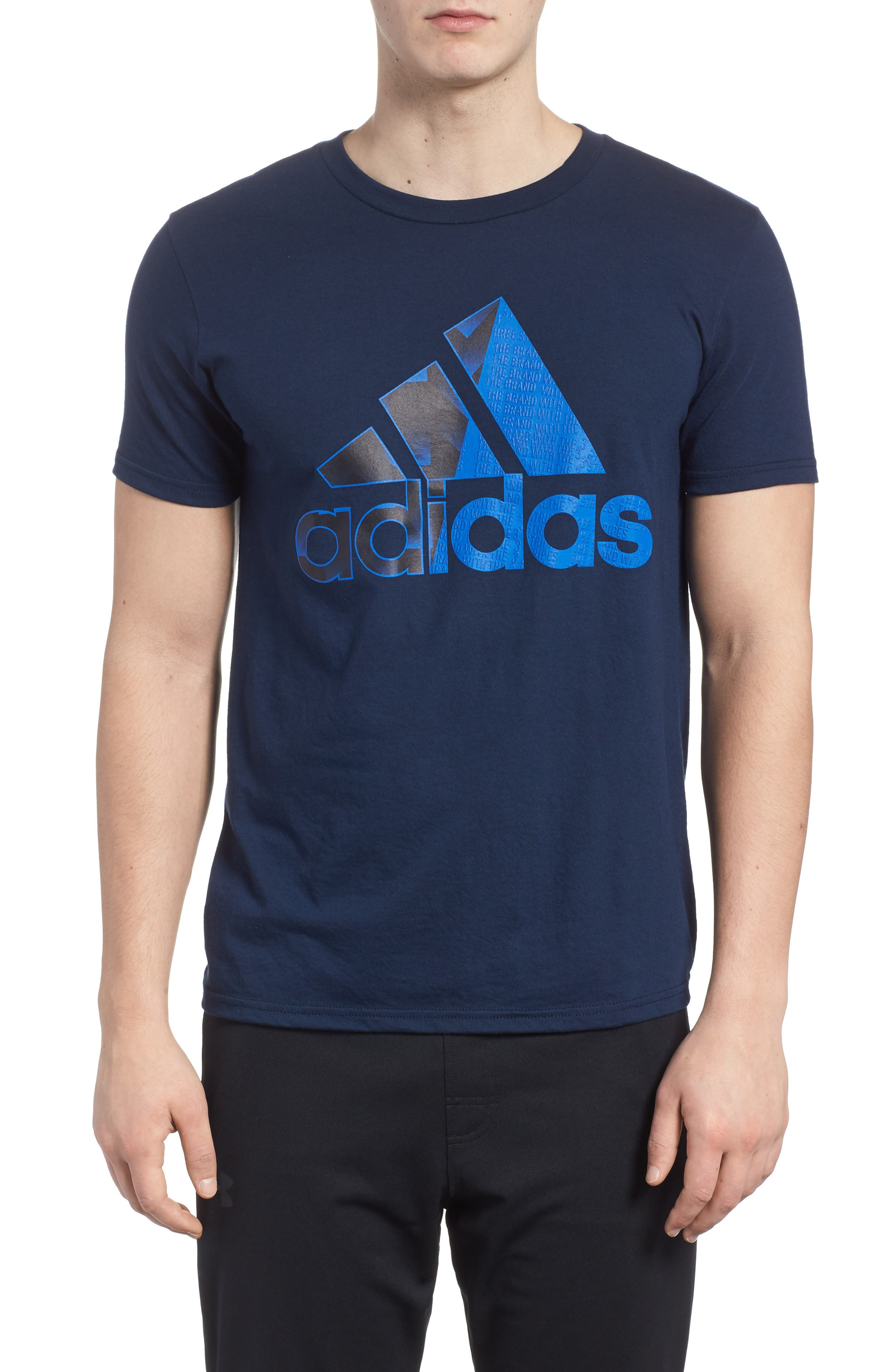 Bos Split T-Shirt,                         Main,                         color, Collegiate Navy / Blue