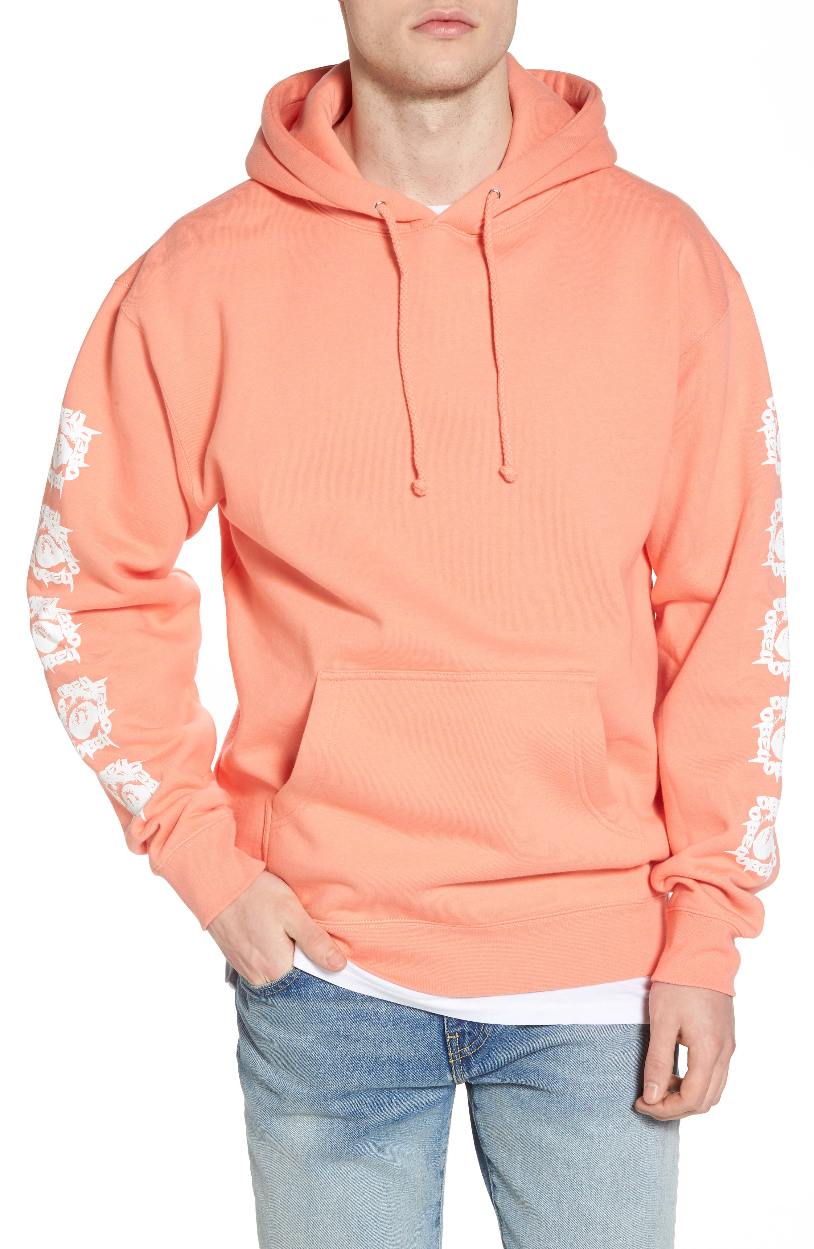 Tunnel Vision Hoodie Sweatshirt,                             Main thumbnail 1, color,                             Coral