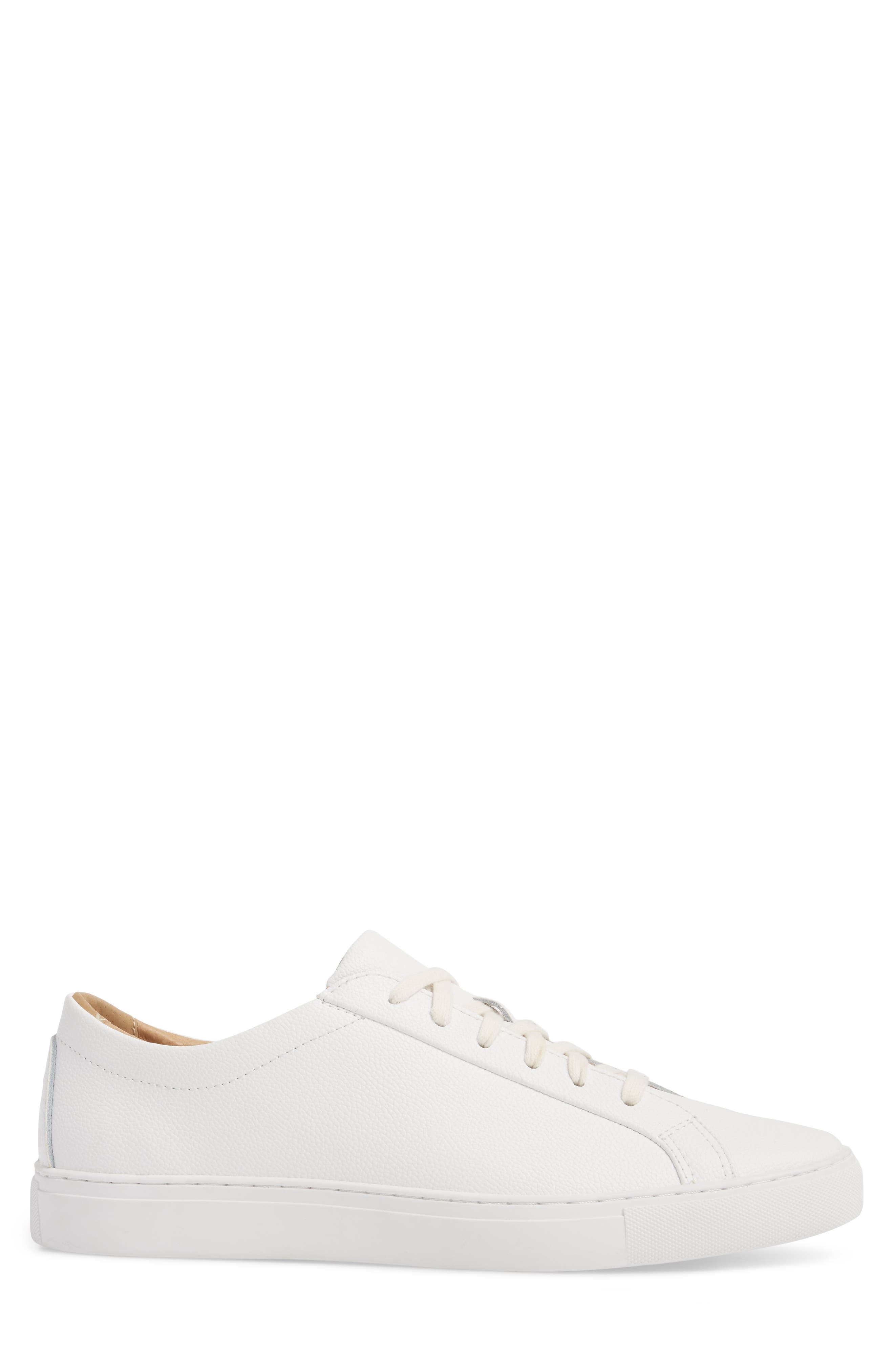 Kennedy Low Top Sneaker,                             Alternate thumbnail 3, color,                             White Leather
