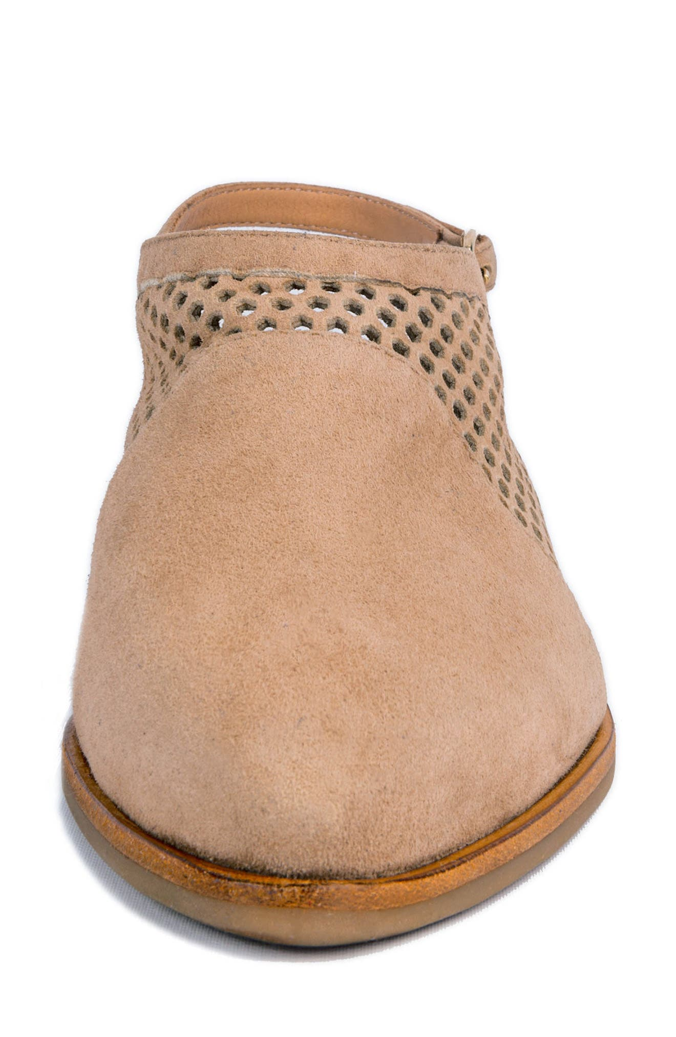 Toselli Water Resistant Slingback Bootie,                             Alternate thumbnail 4, color,                             Sand