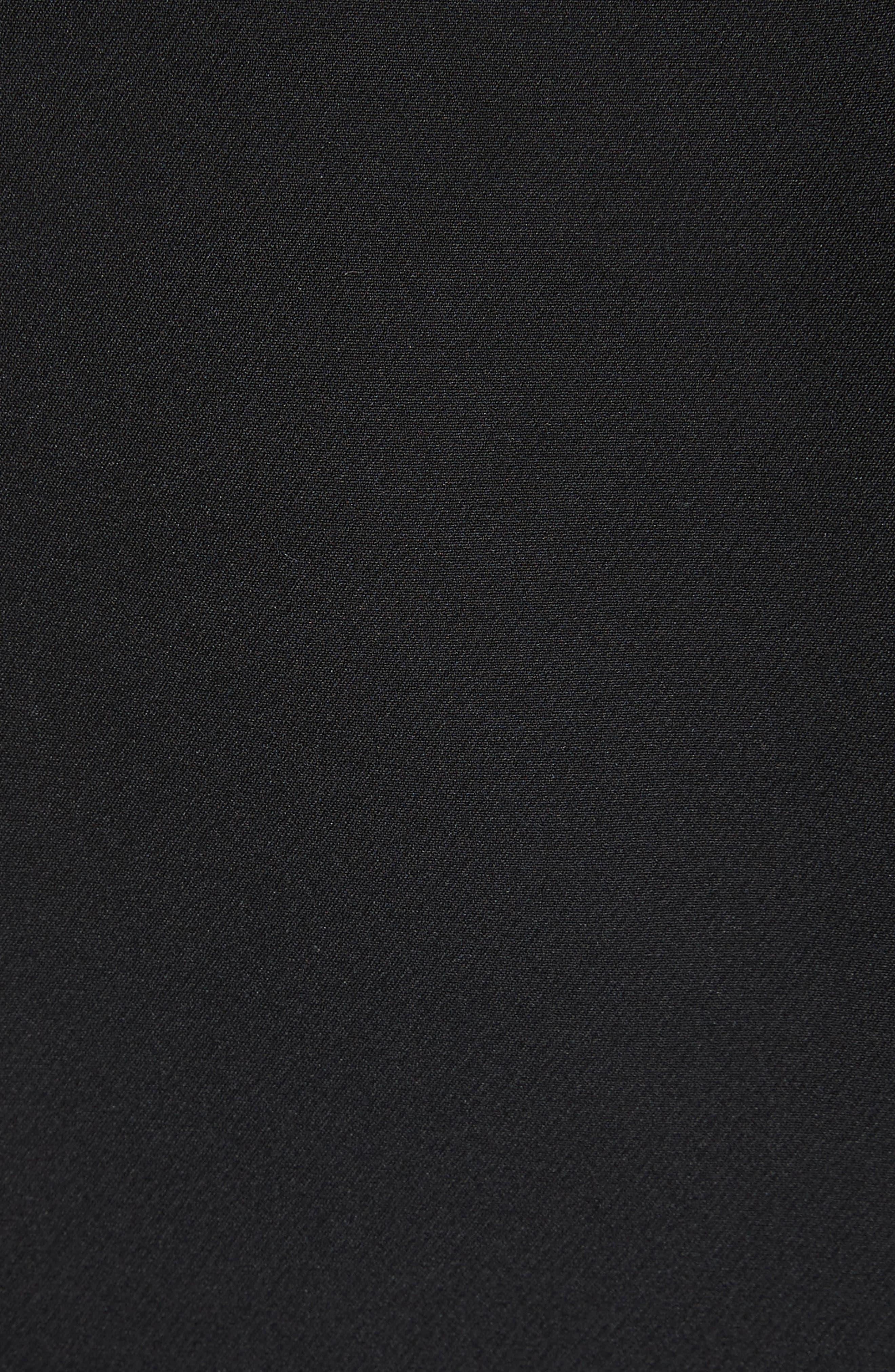 Crisscross Front Jumpsuit,                             Alternate thumbnail 5, color,                             Black