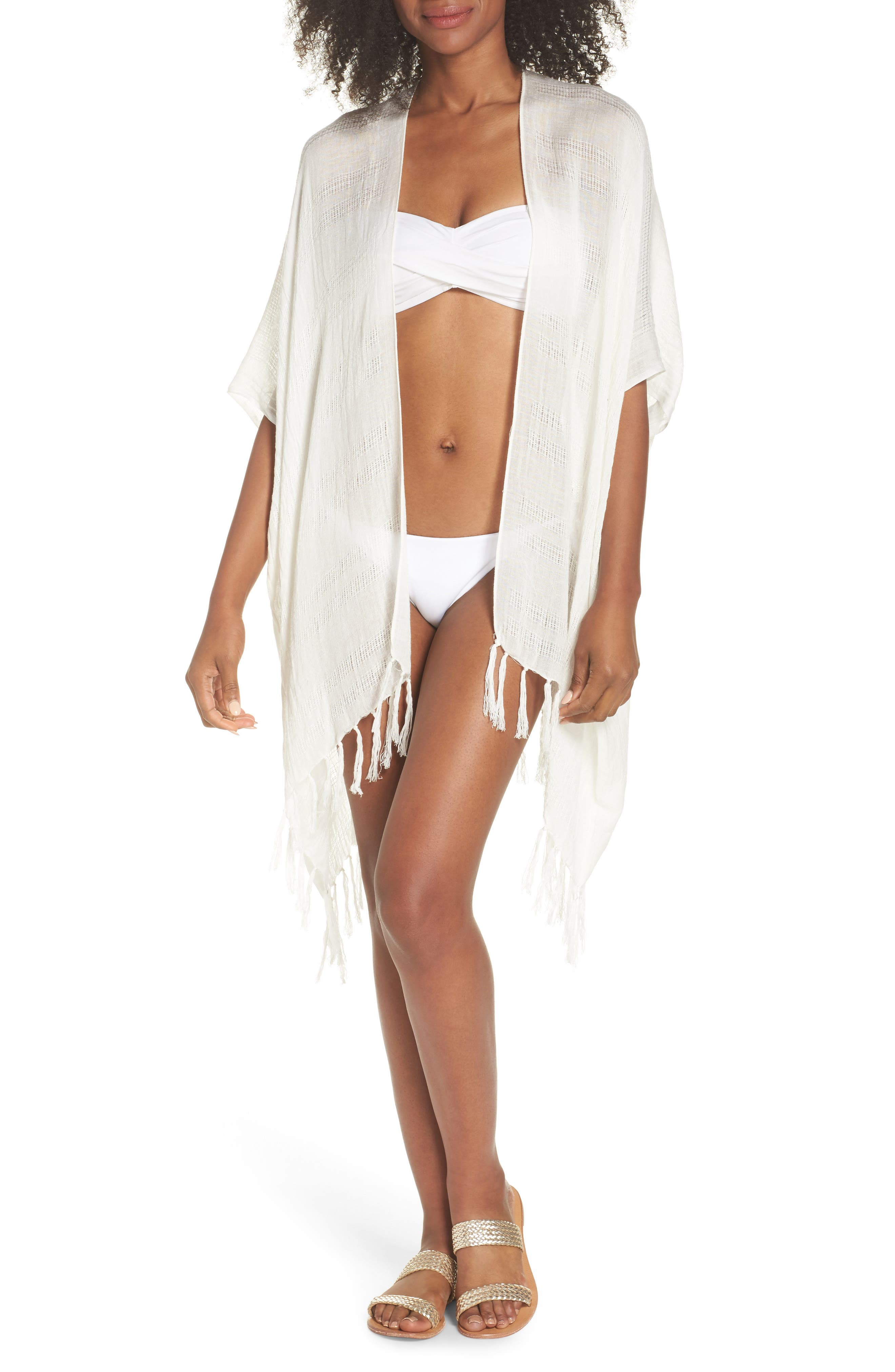 Bayshort Cover-Up Cardigan,                         Main,                         color, White