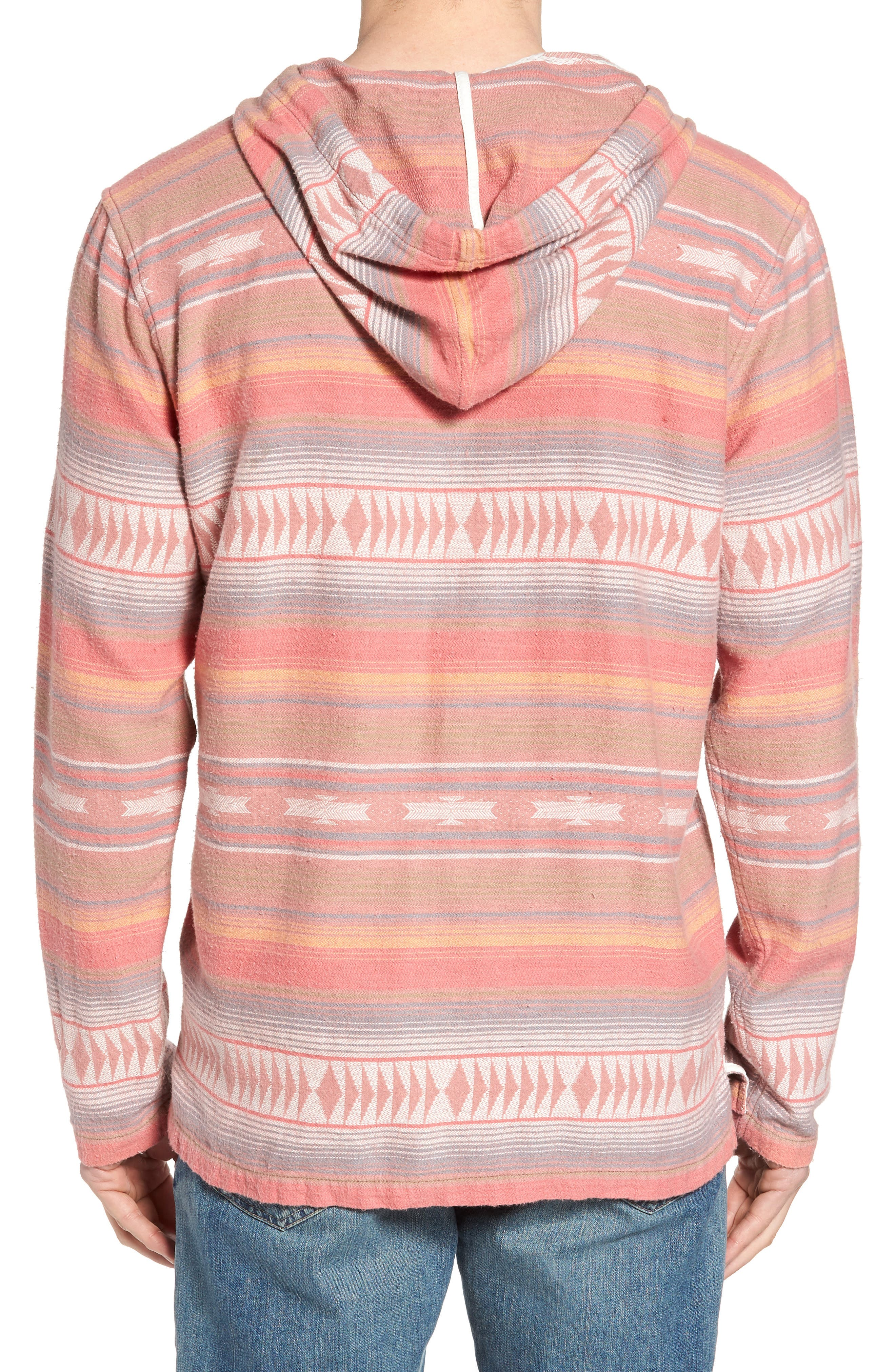 Baja Poncho Hoodie,                             Alternate thumbnail 2, color,                             Faded Red