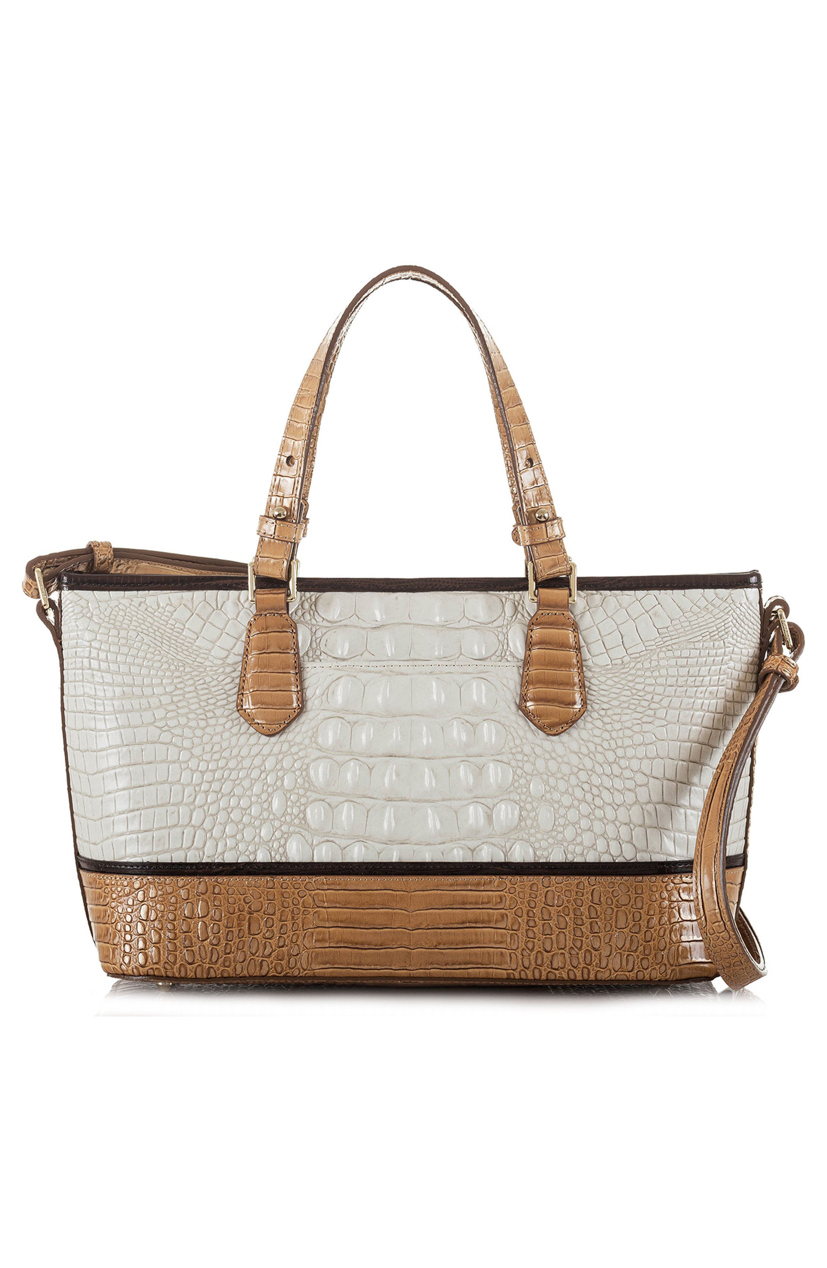 Mini Asher Embossed Leather Tote,                             Alternate thumbnail 2, color,                             Coconut