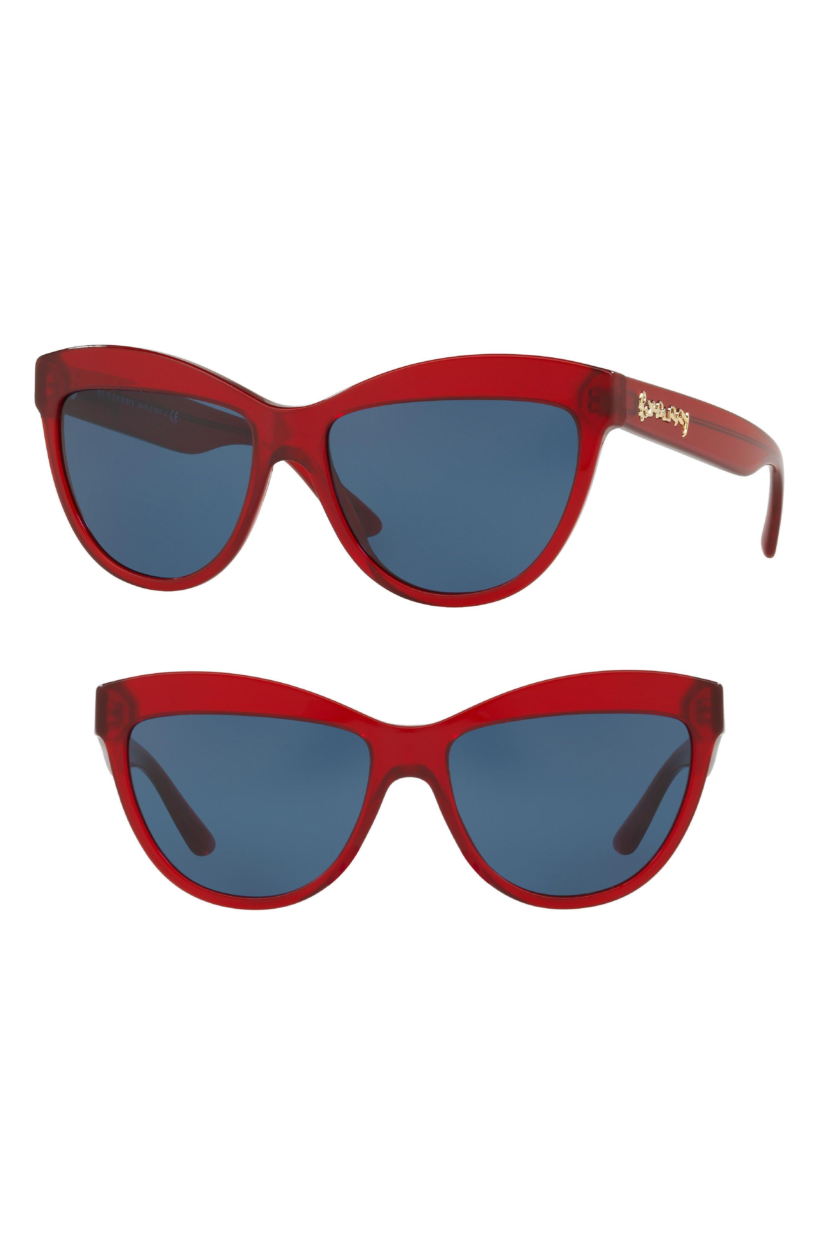 Burberry Acoustic 56mm Cat Eye Sunglasses