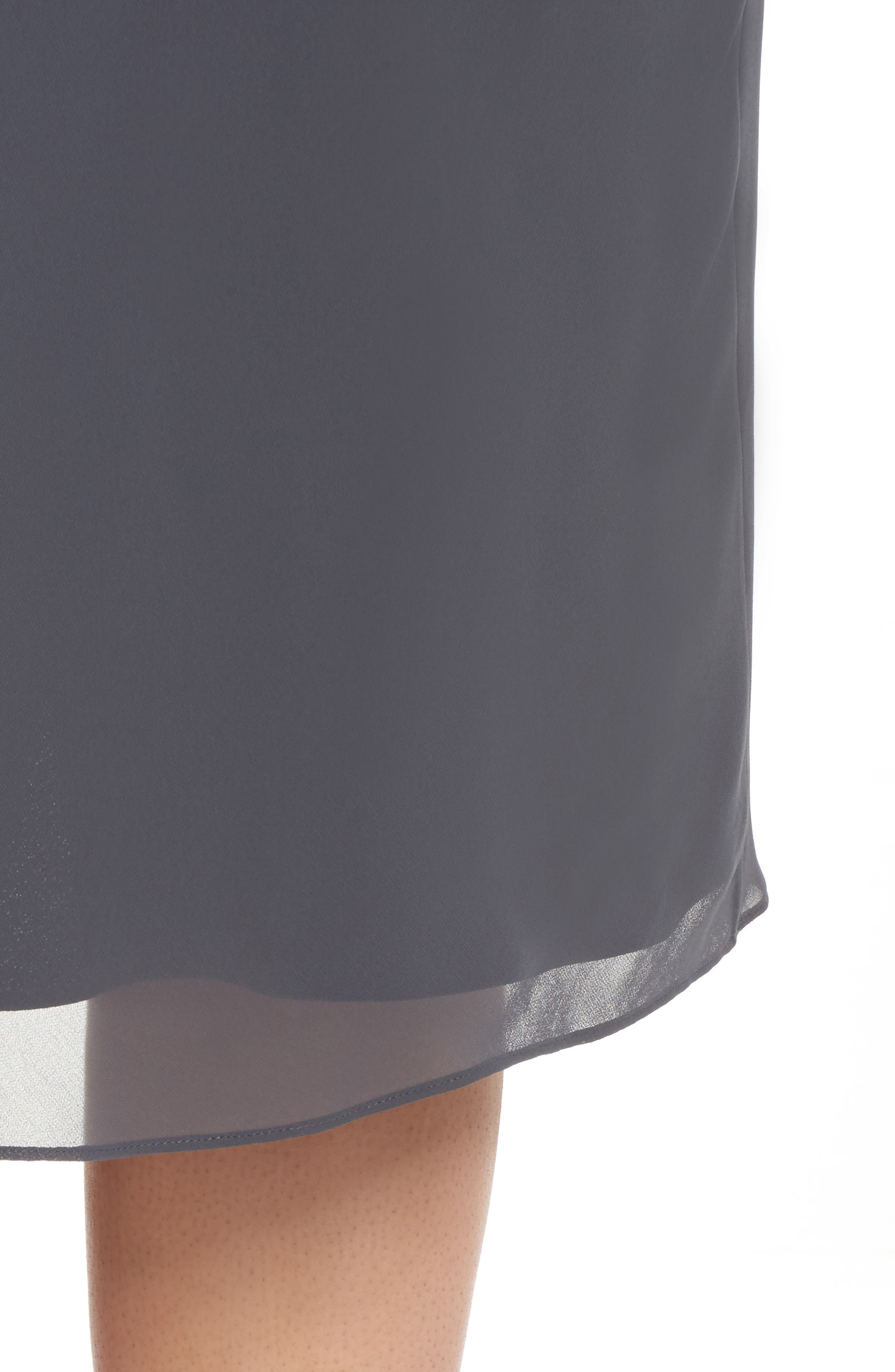 Paired Up Chiffon Skirt,                             Alternate thumbnail 4, color,                             Ink