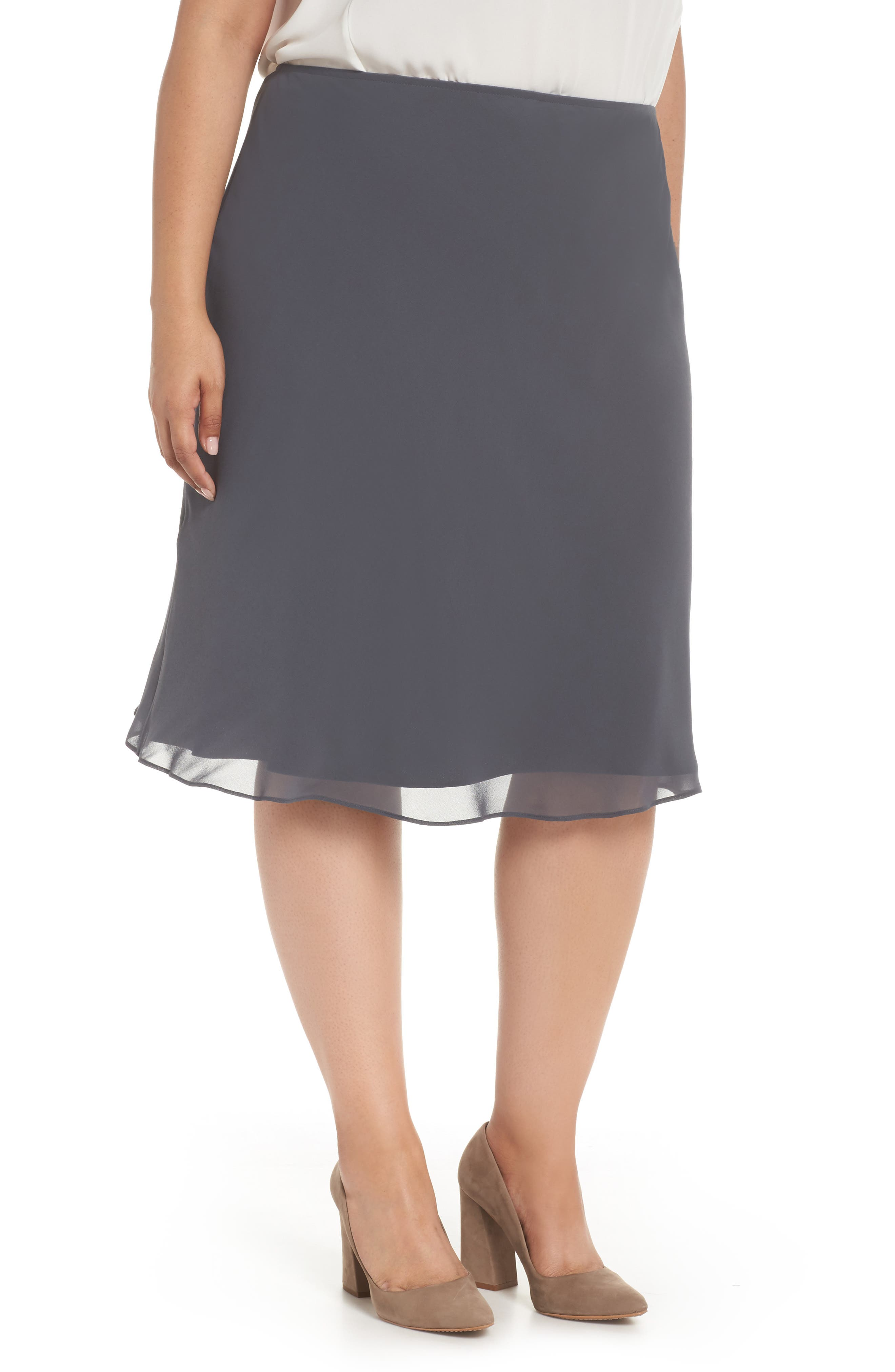 Paired Up Chiffon Skirt,                         Main,                         color, Ink