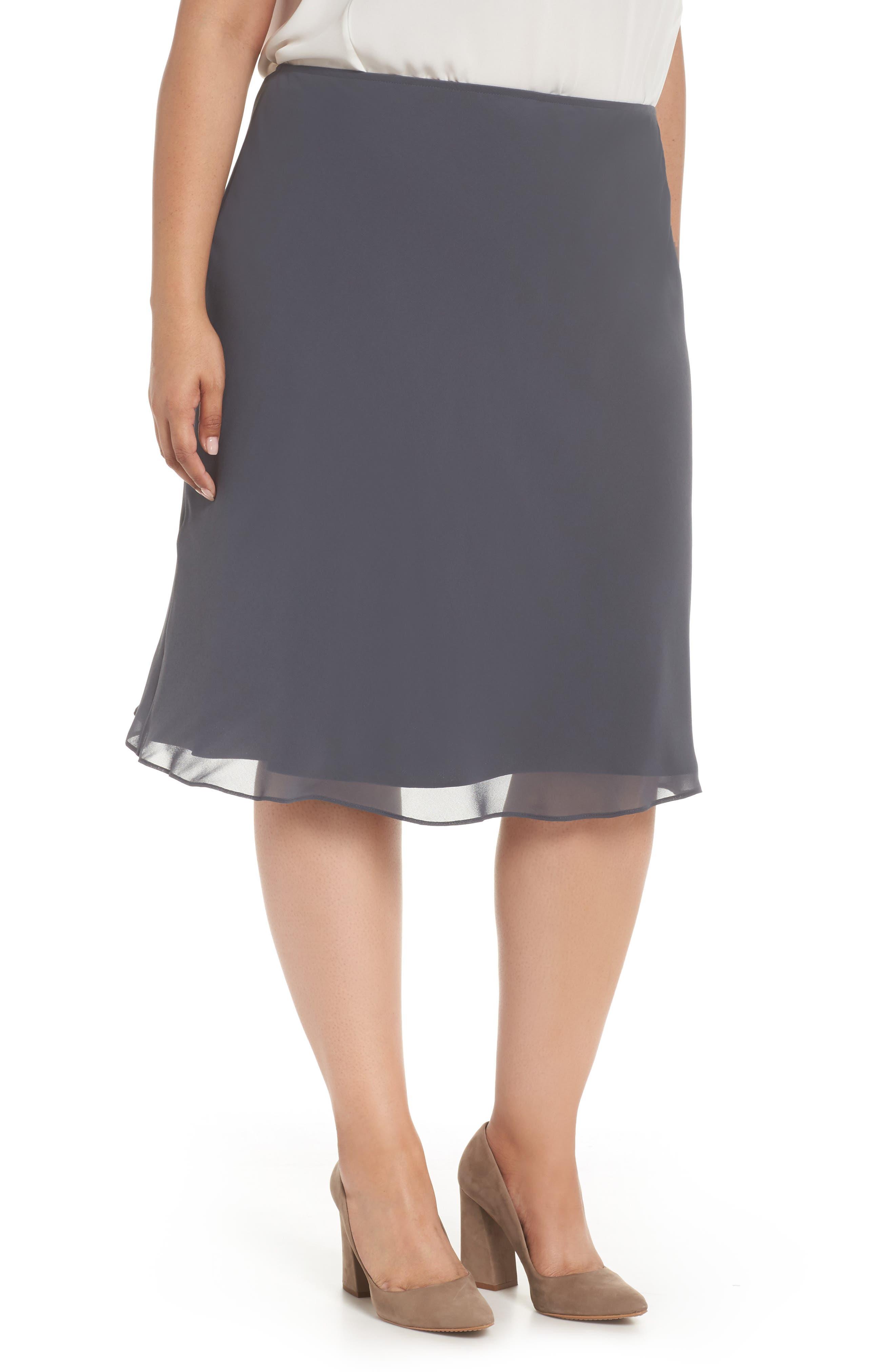 NIC+ZOE Paired Up Chiffon Skirt (Plus Size)