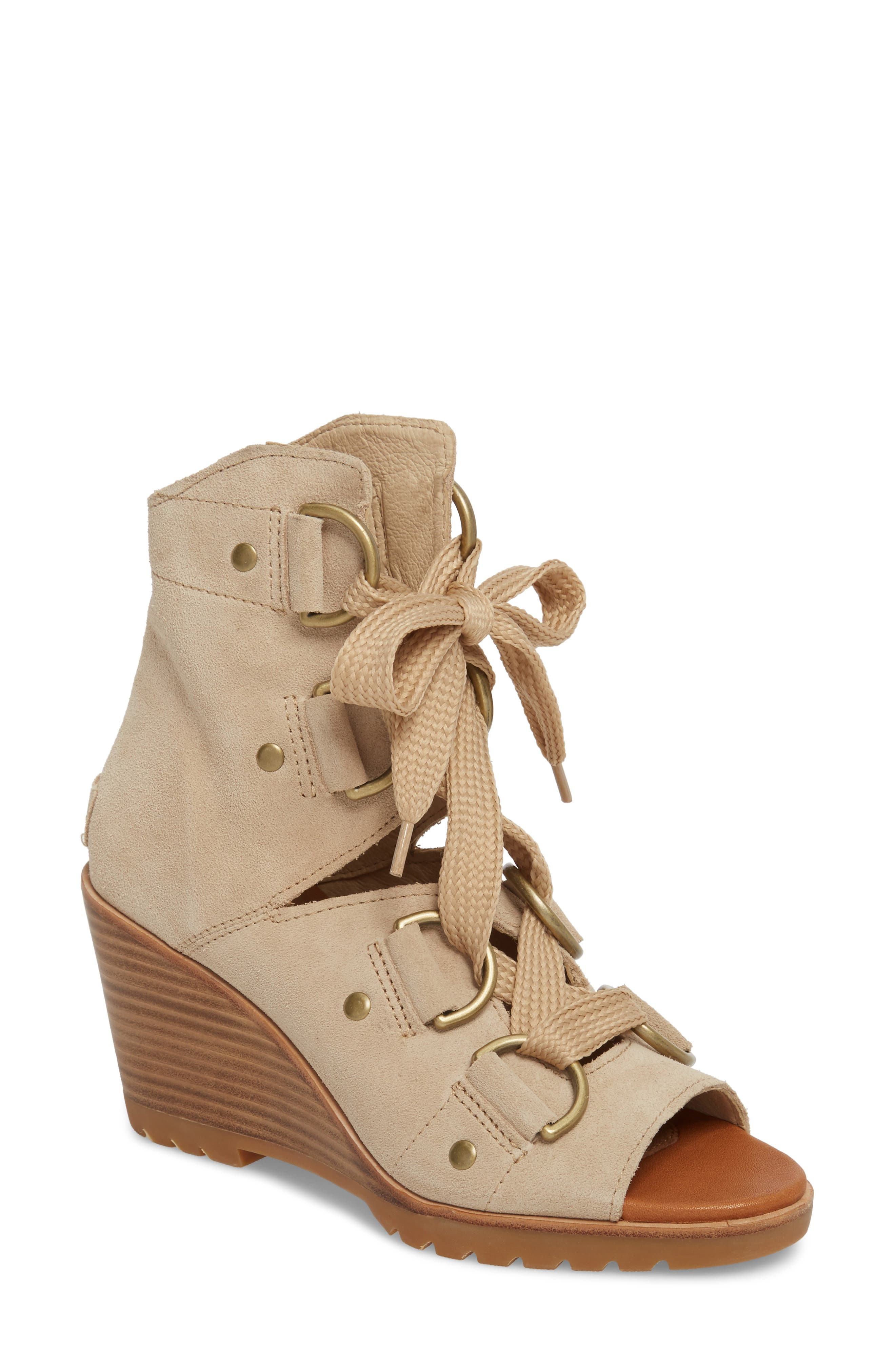 After Hours Wedge Bootie,                         Main,                         color, Oatmeal