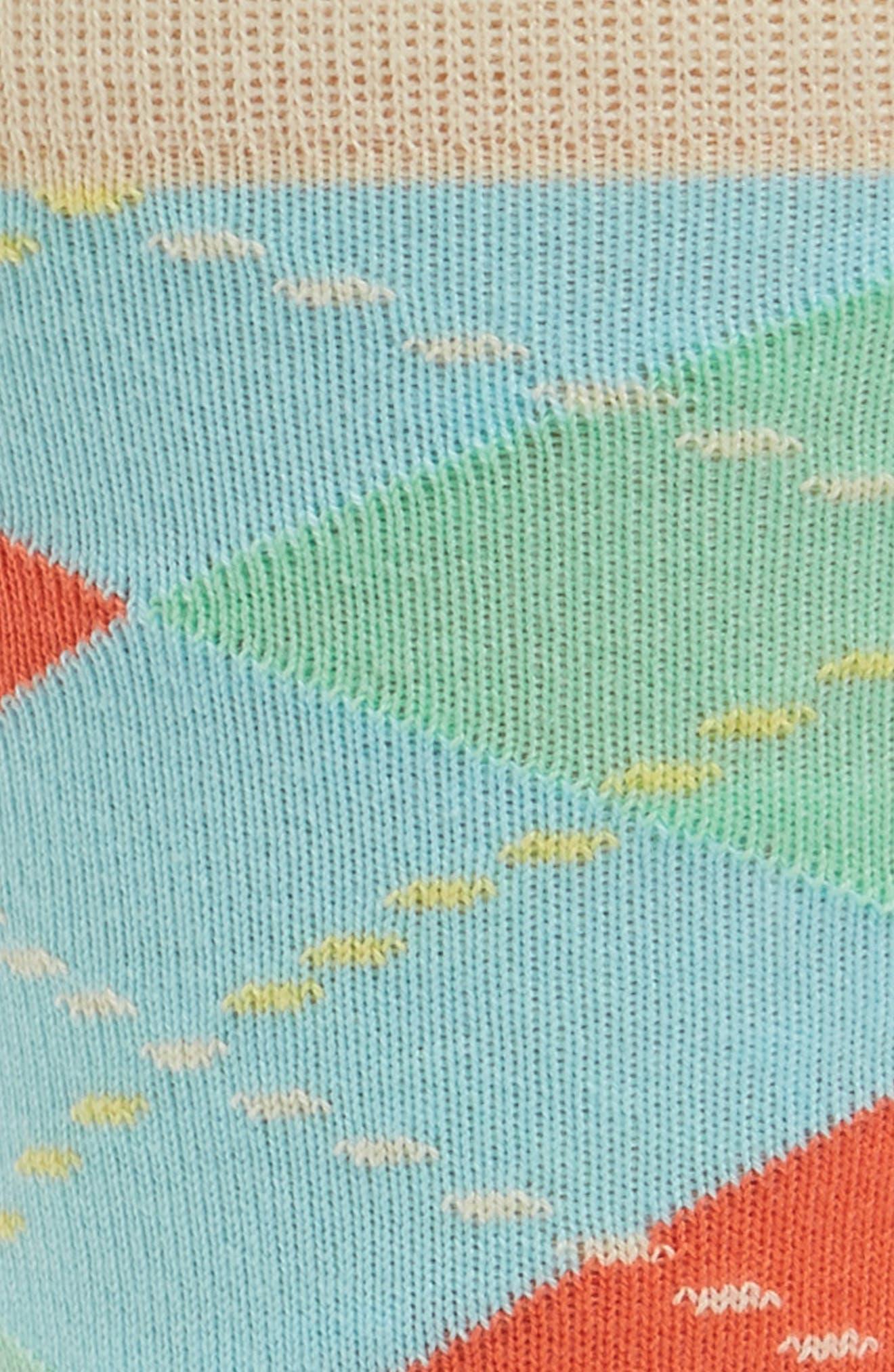 Argyle Crew Socks,                             Alternate thumbnail 2, color,                             Beige Multi
