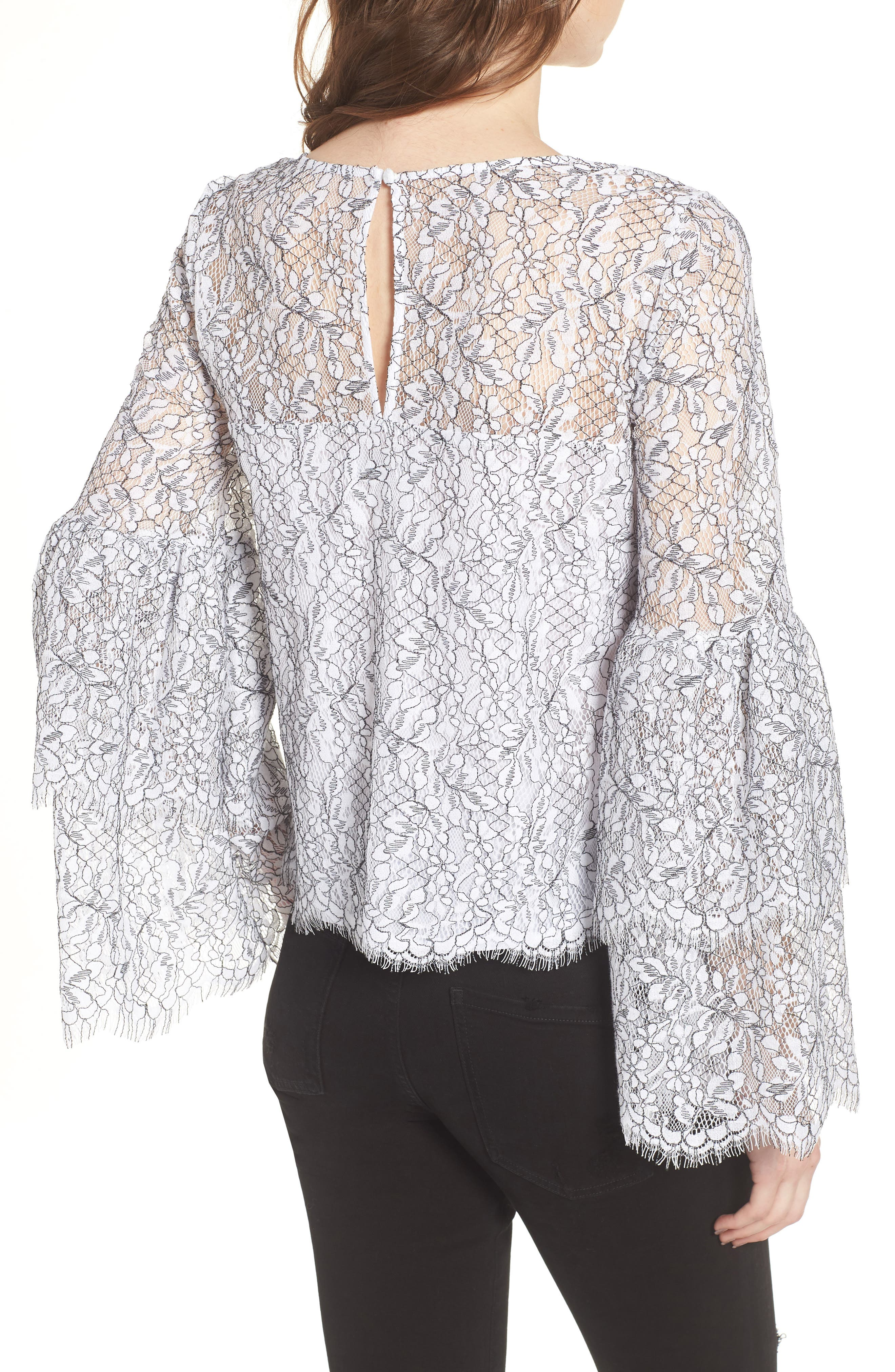 Basswood Lace Top,                             Alternate thumbnail 2, color,                             Ivory
