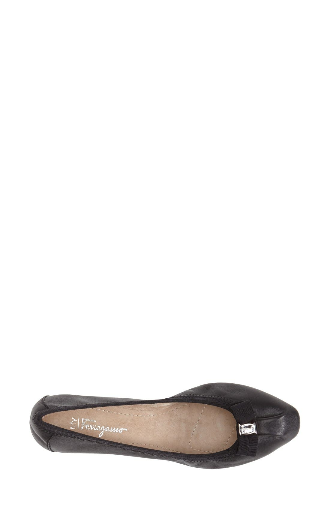 Alternate Image 4  - Salvatore Ferragamo Skimmer Flat (Women)