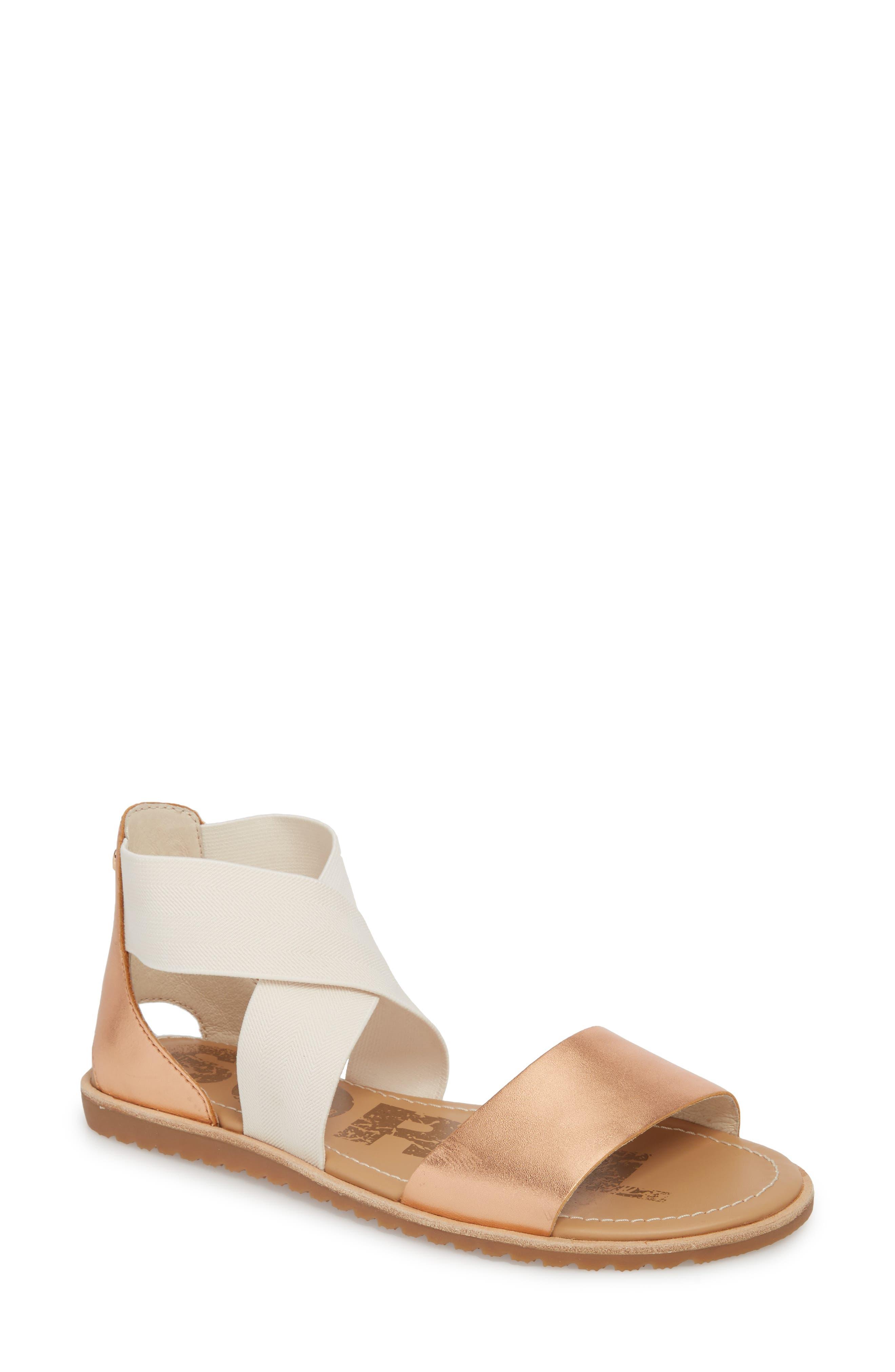 sorel Women's Ella Crisscross Ankle Strap Sandals YRhjB3Kr