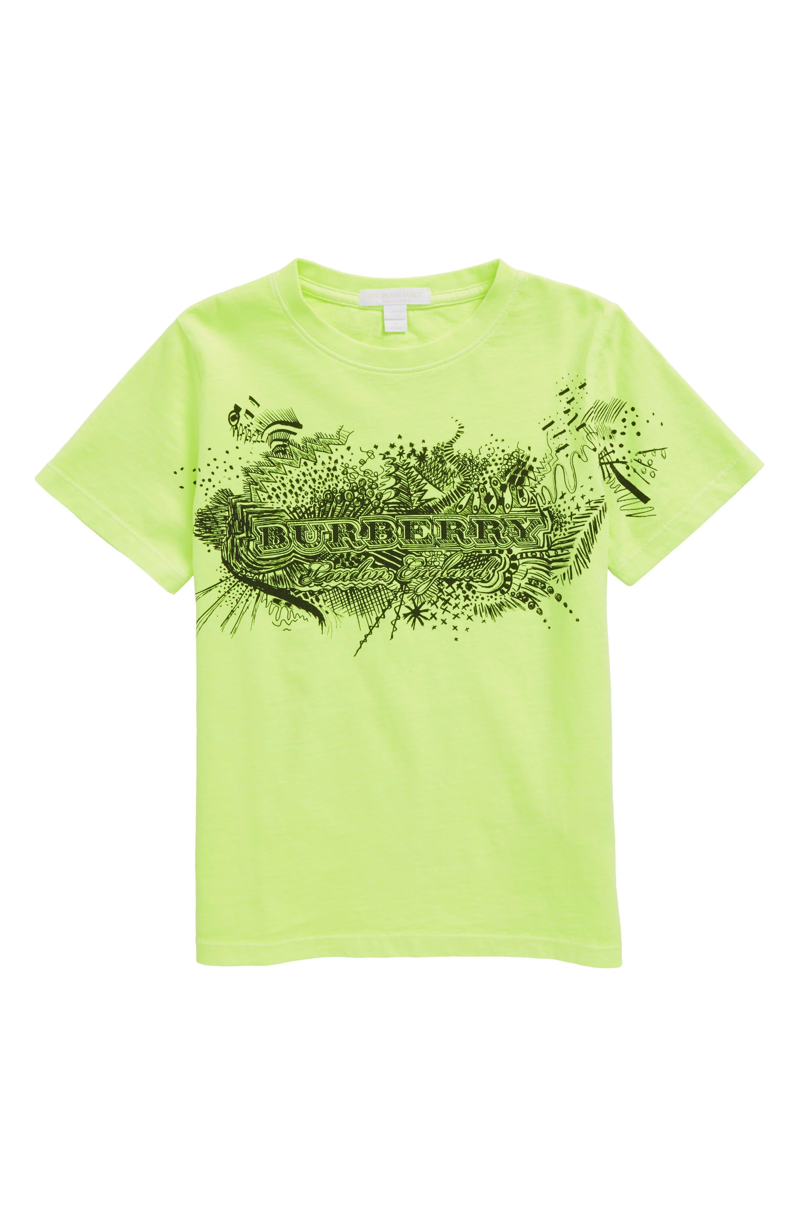 Rydon Print Cotton T-Shirt,                             Main thumbnail 1, color,                             Neon Yellow