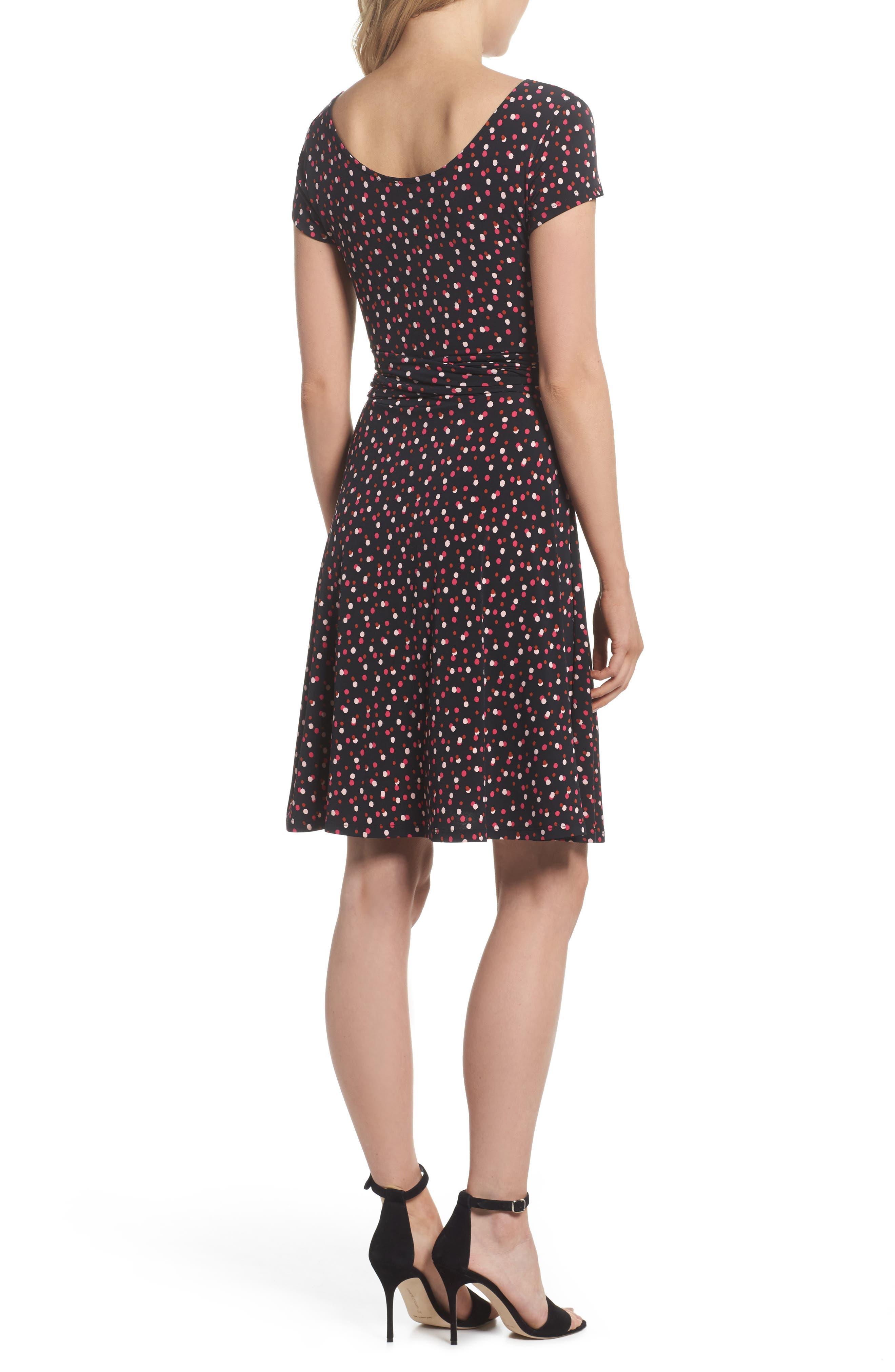 Alternate Image 2  - Leota Scoop Neck Jersey Fit & Flare Dress