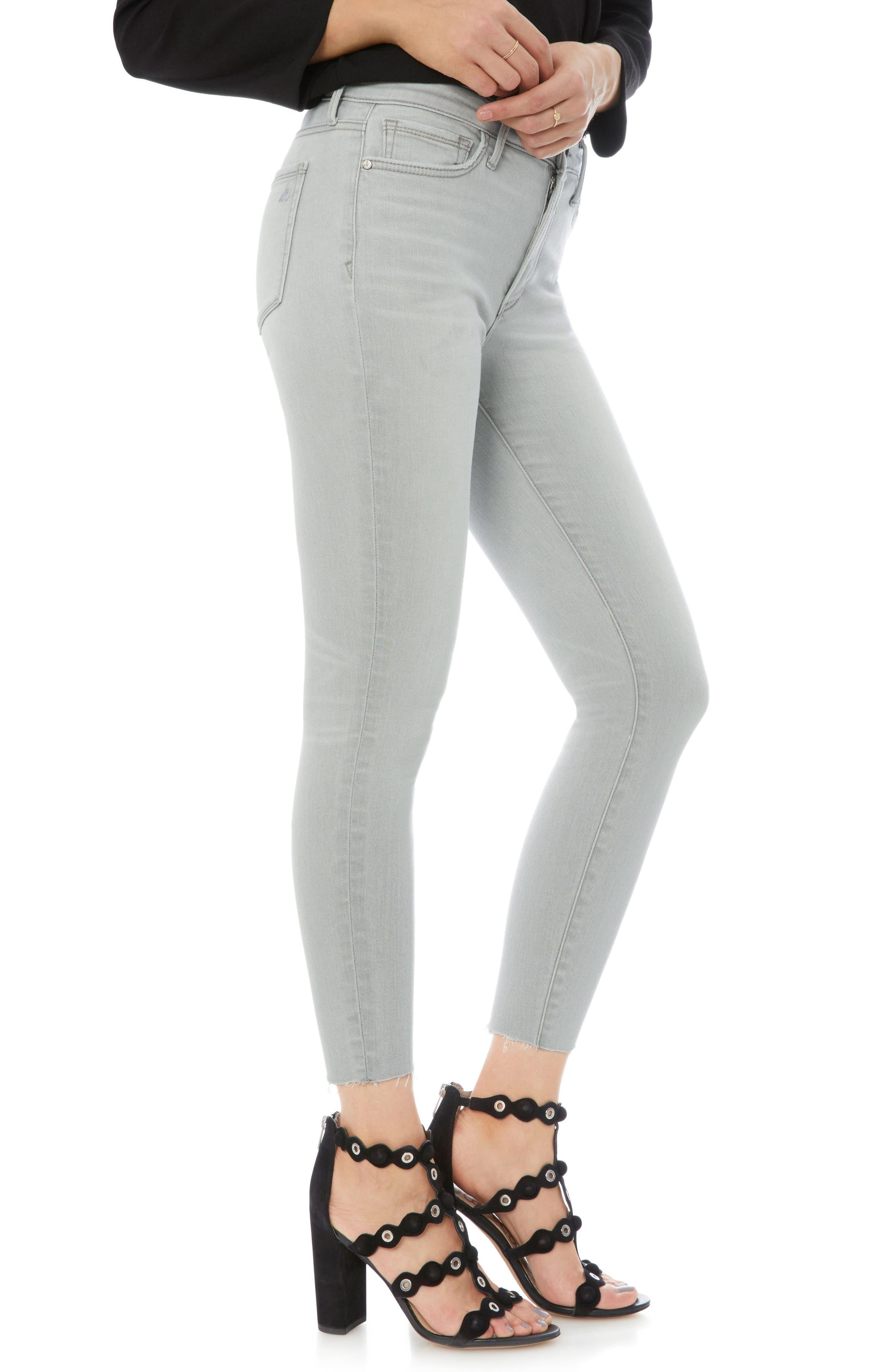 The Stiletto Raw Hem Skinny Jeans,                             Alternate thumbnail 3, color,                             Mazi