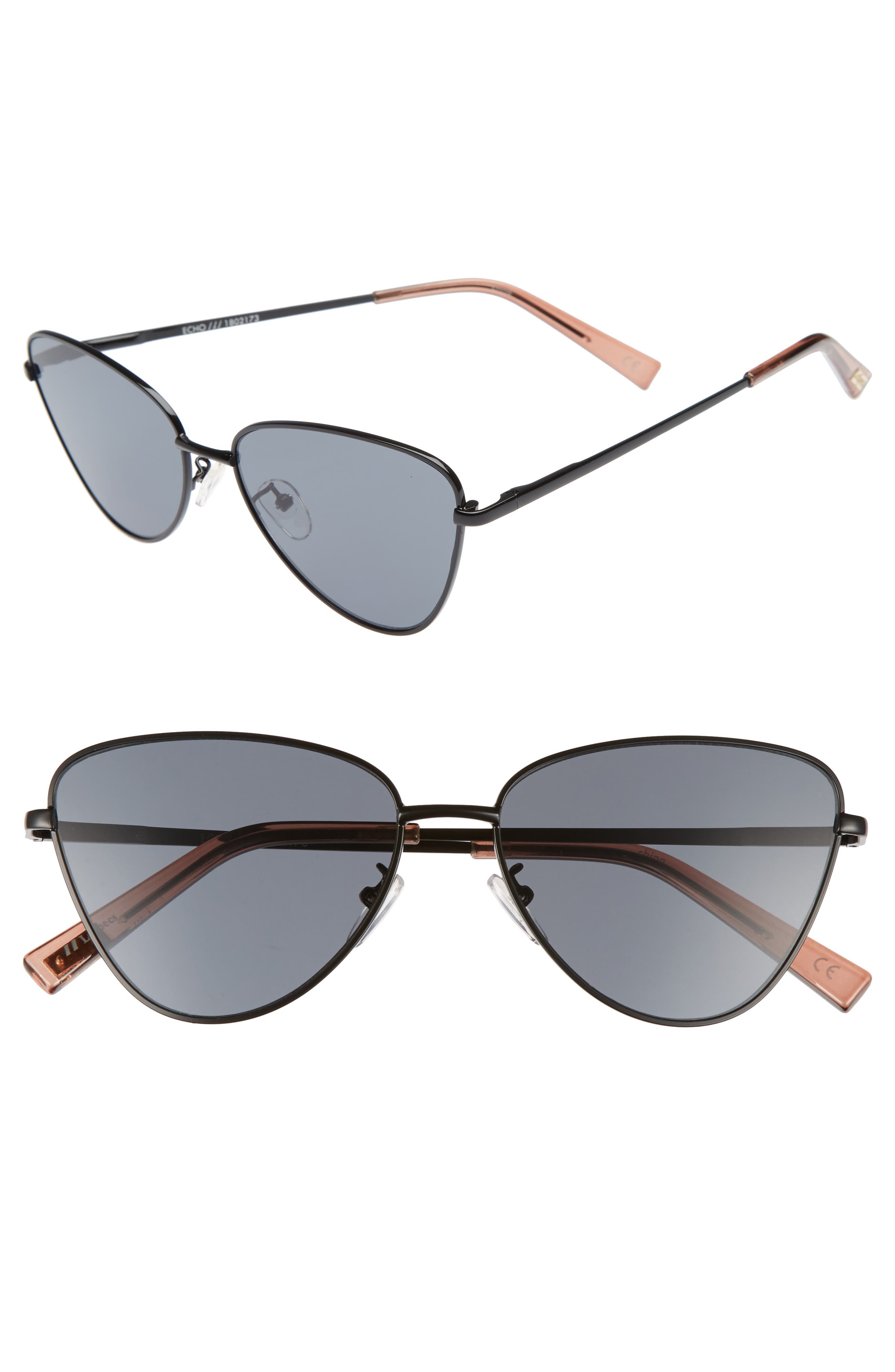Le Specs Echo 56mm Butterfly Sunglasses