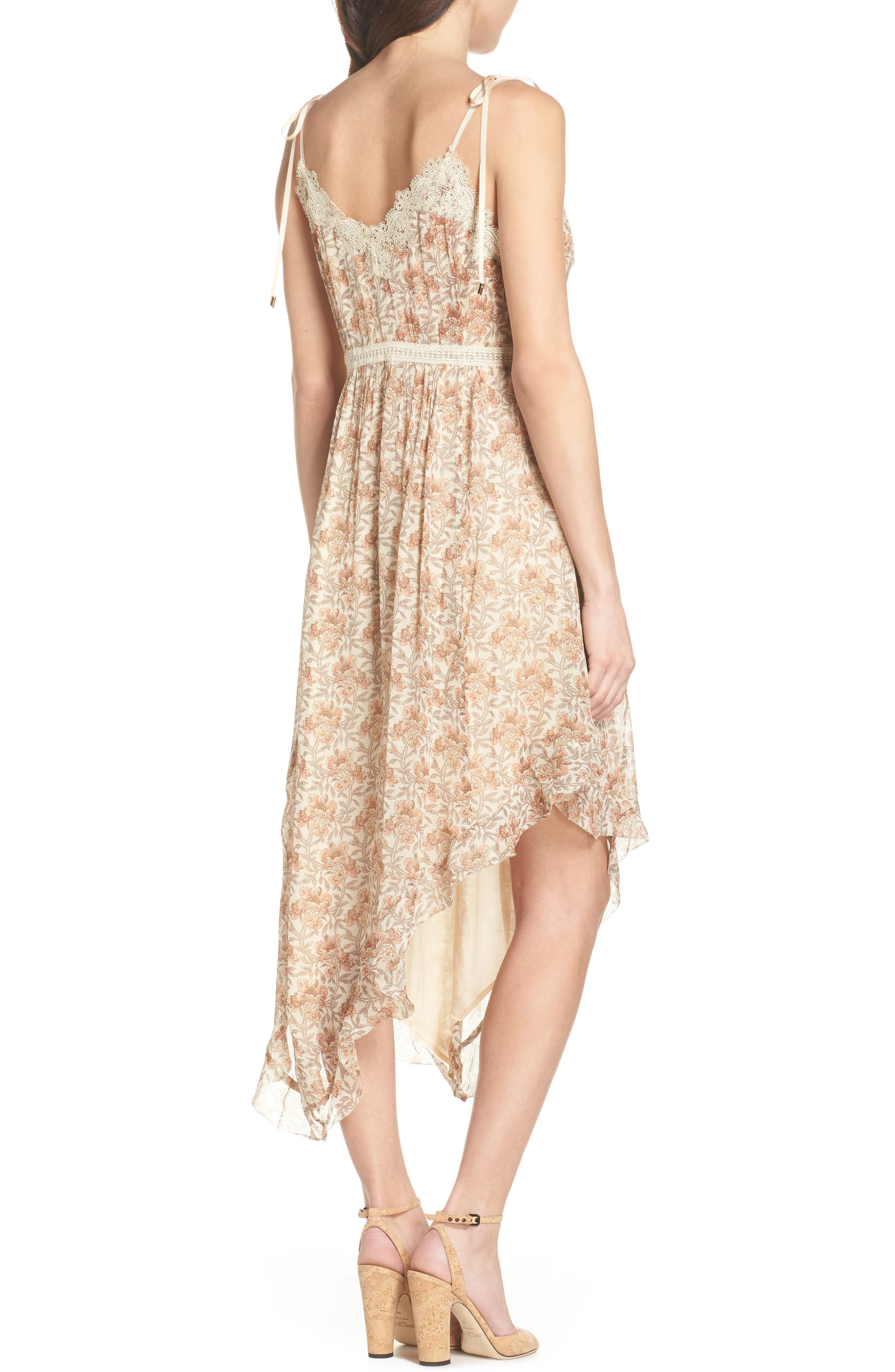 Aubrey Floral Print Dress,                             Alternate thumbnail 2, color,                             Desert Sunrise Floral