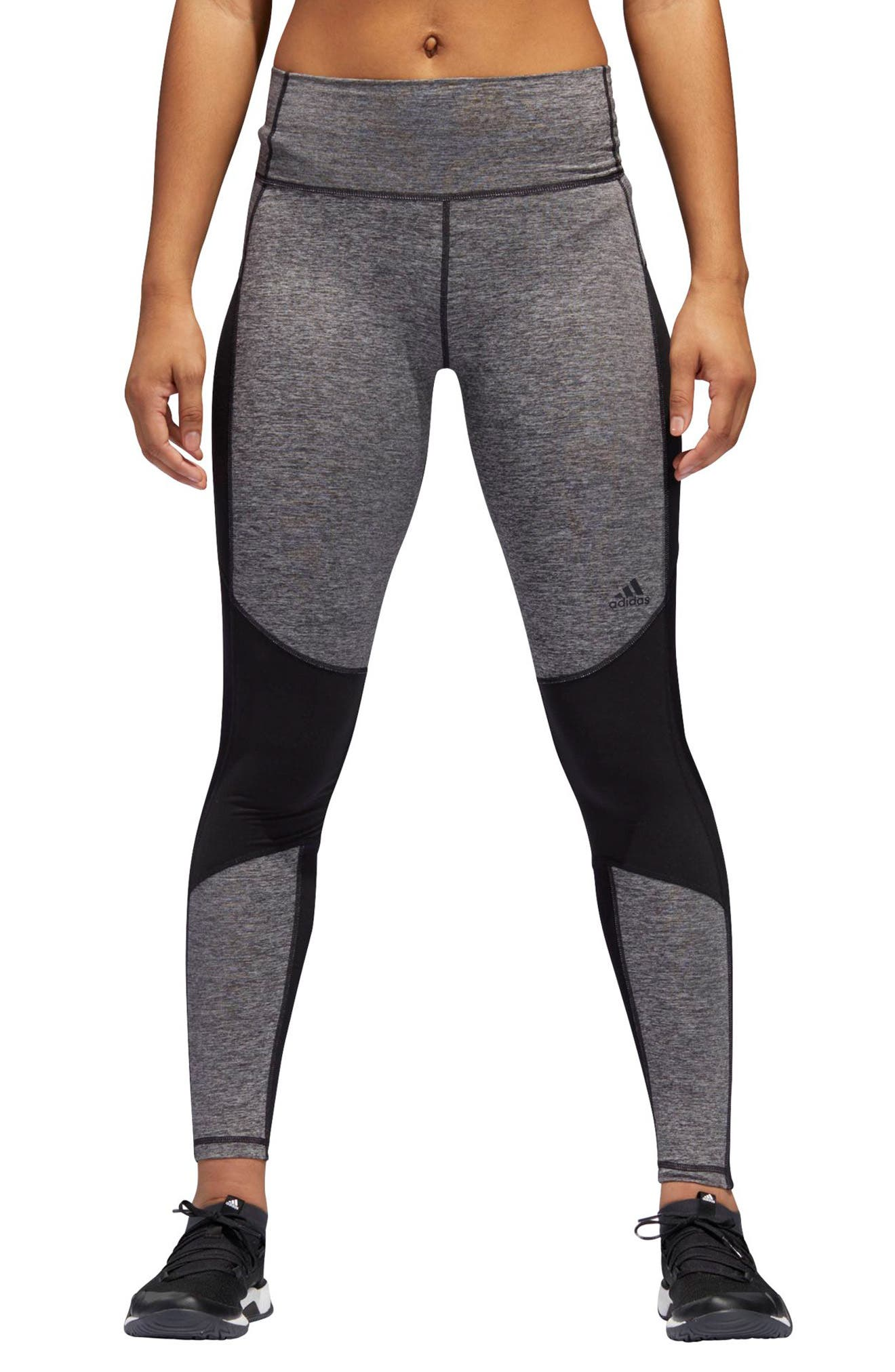 VFA Climalite<sup>®</sup> High Waist Tights,                         Main,                         color, Black