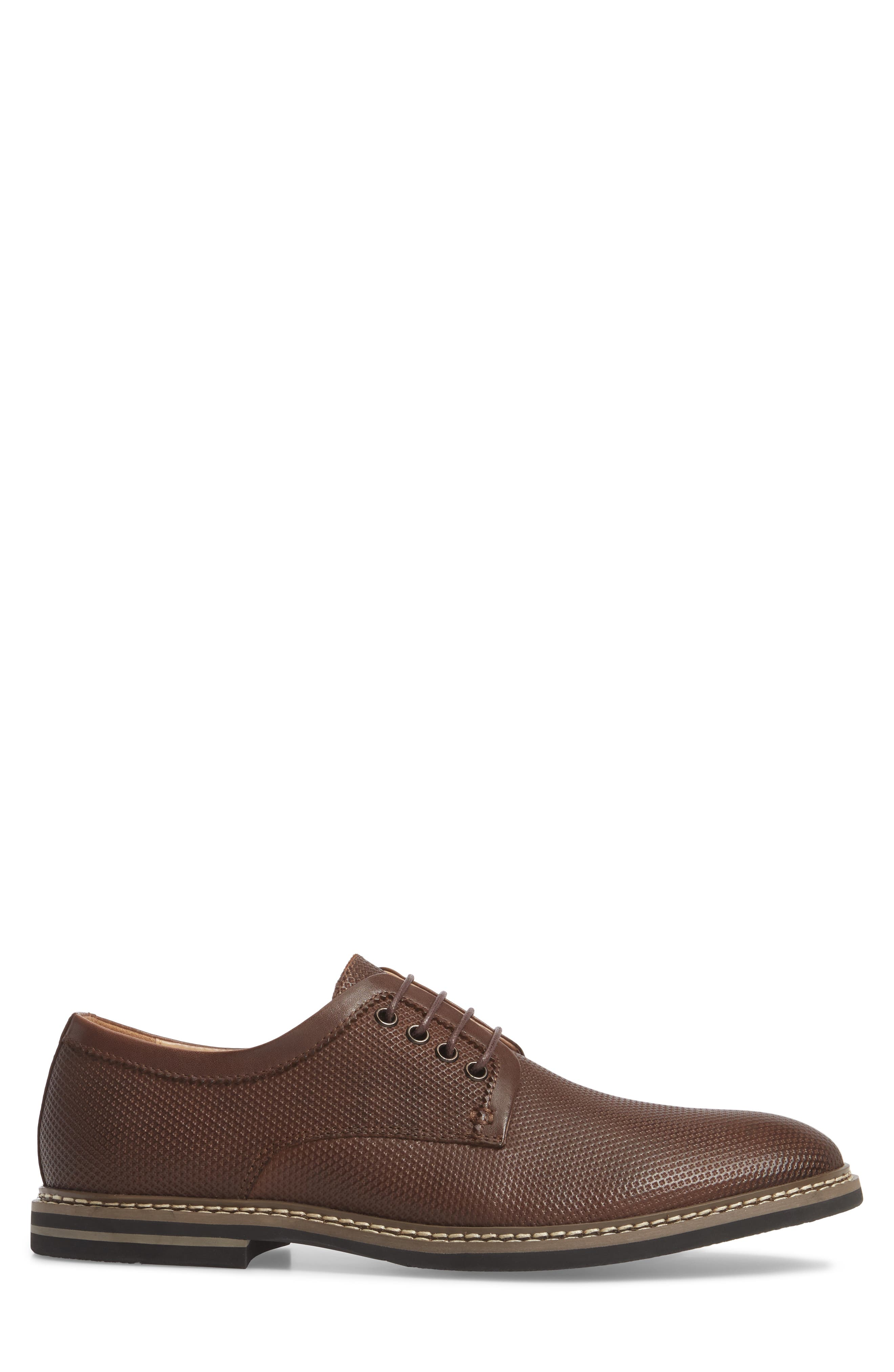 Canning Plain Toe Derby,                             Alternate thumbnail 3, color,                             Brown Leather